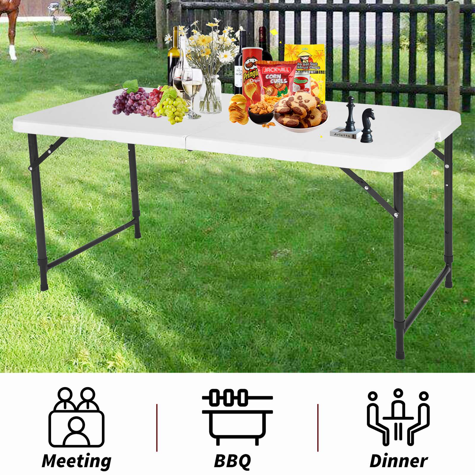 Westwood Heavy Duty Folding Table Portable Plastic Camping