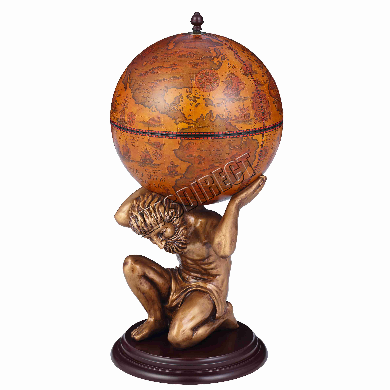 Westwood Vintage Globe Mini Bar Atlas Wine Drink Cabinet