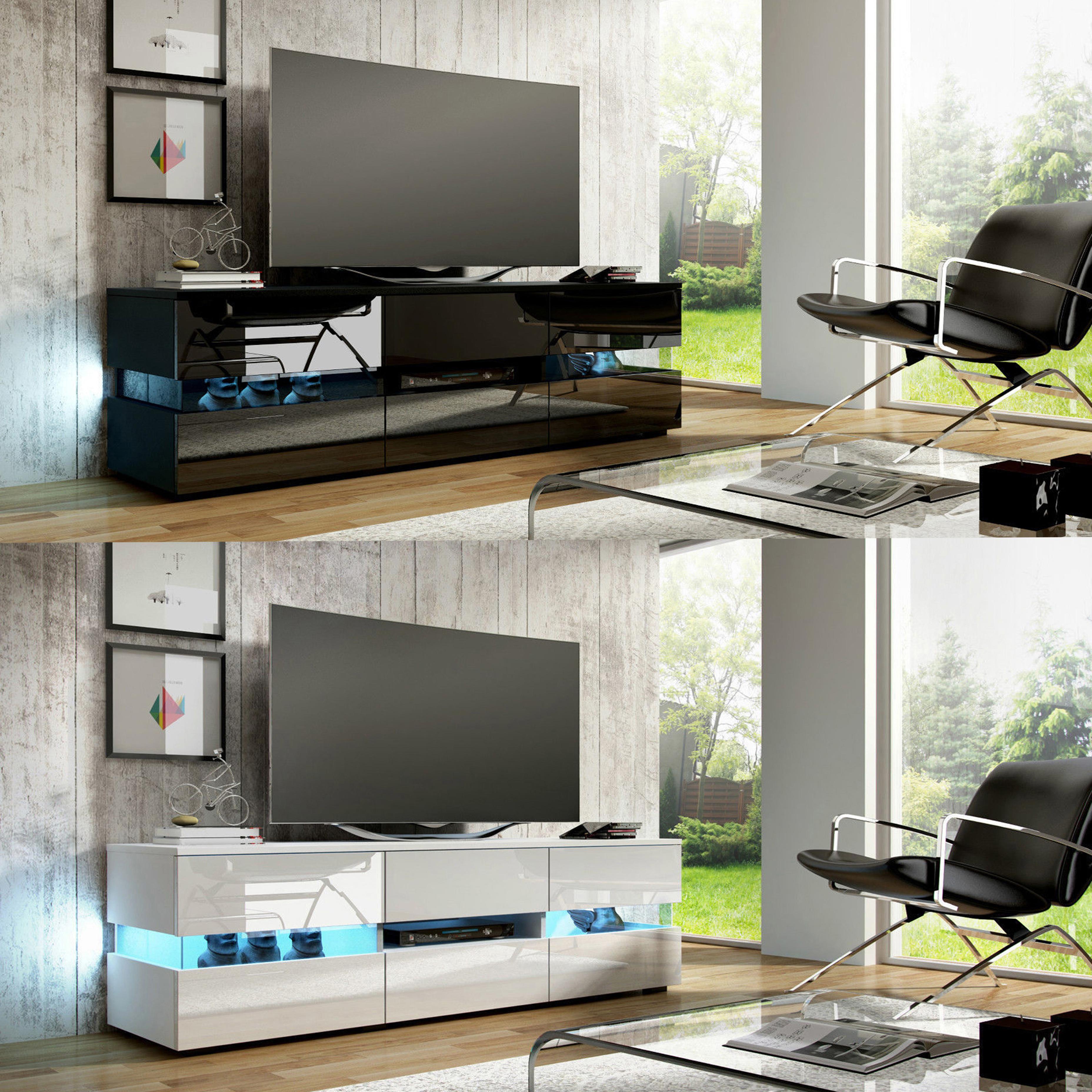 Sentinel FoxHunter High Gloss Matt TV Cabinet Unit Stand RGB LED Light Home  TVC07 177cm Part 81