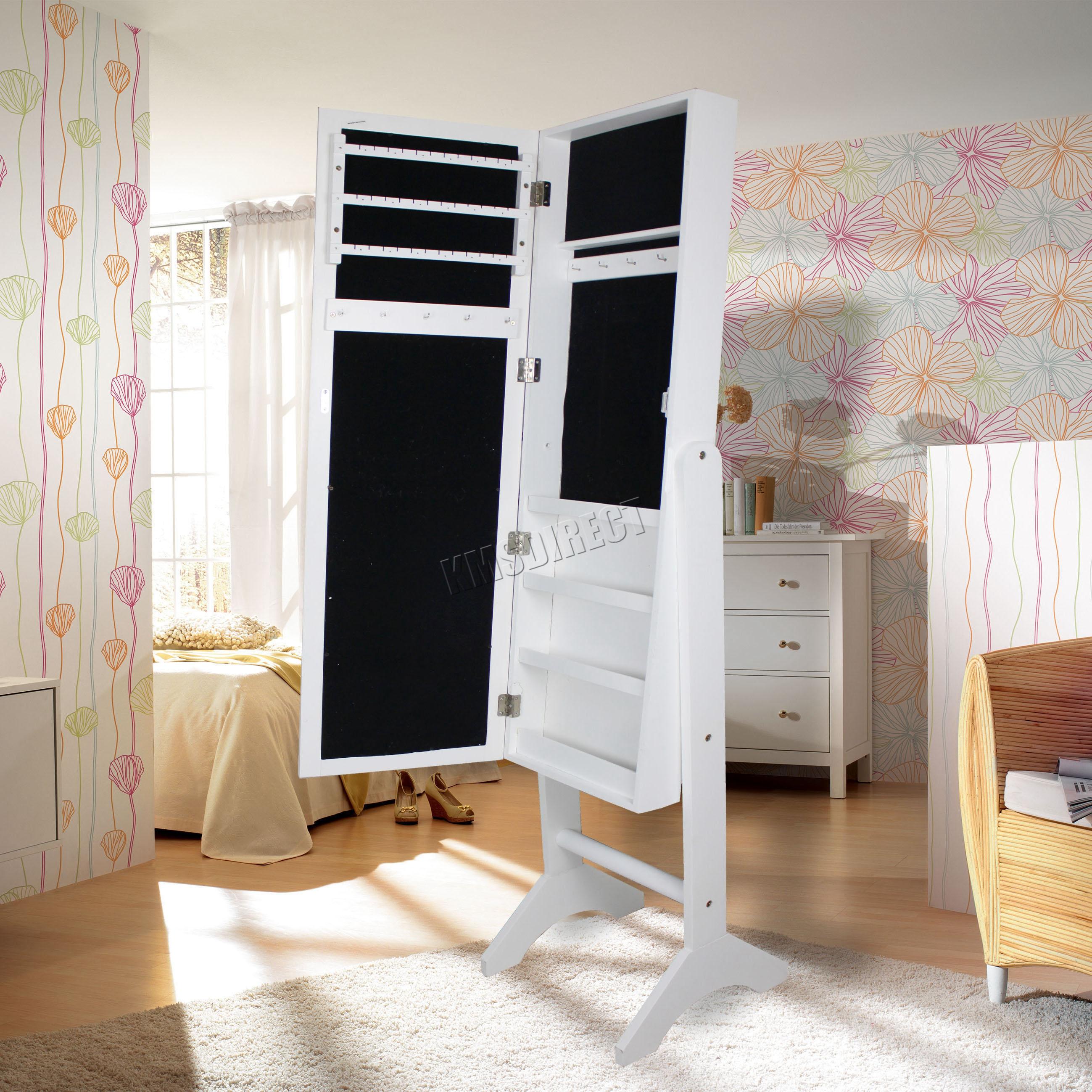 WestWood-Armoire-Jewellery-Cabinet-Storage-Standing-Jewelry-With-Mirror-MJC01