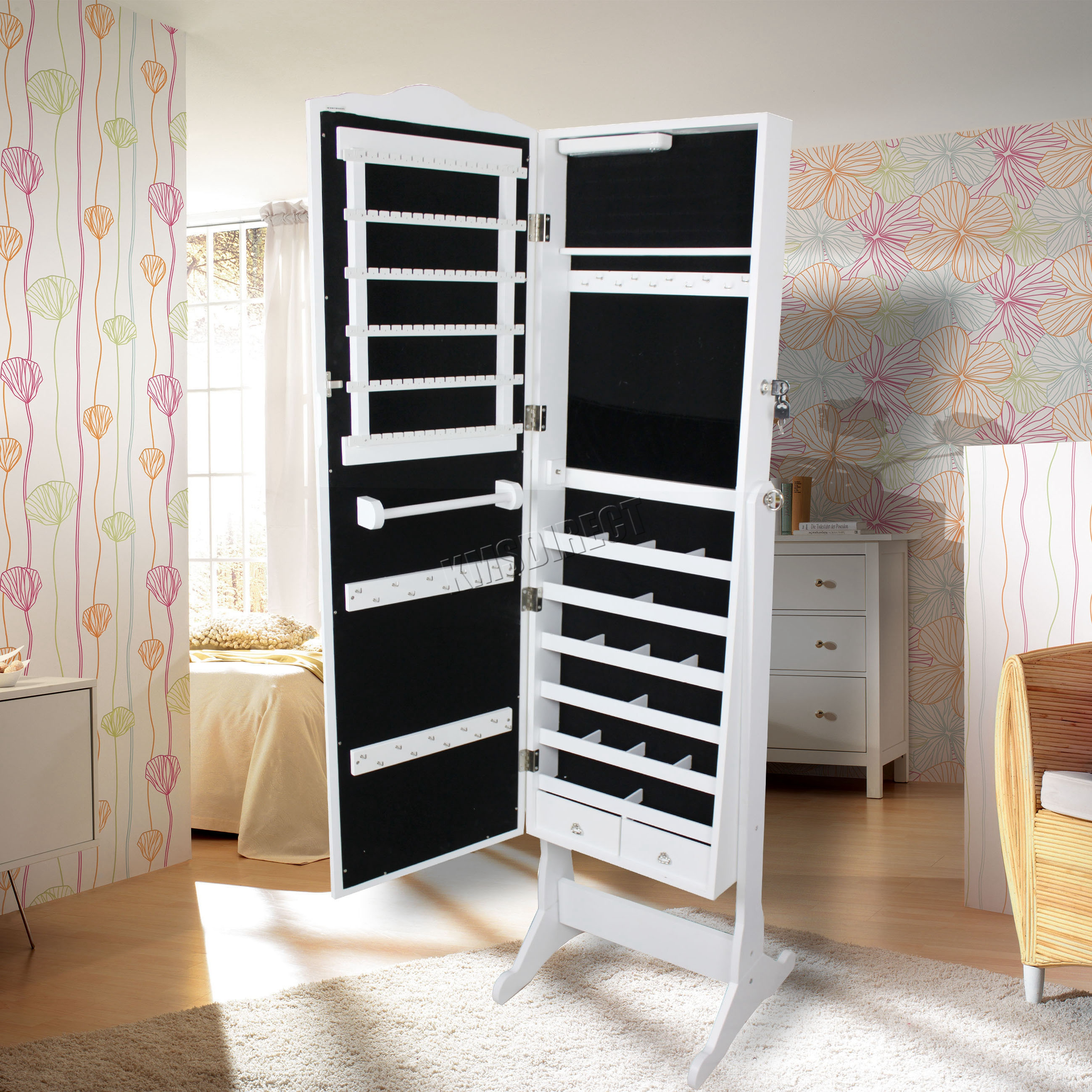Exceptionnel Image Is Loading WestWood Armoire Jewellery Cabinet  Storage Stand Lockable Jewelry
