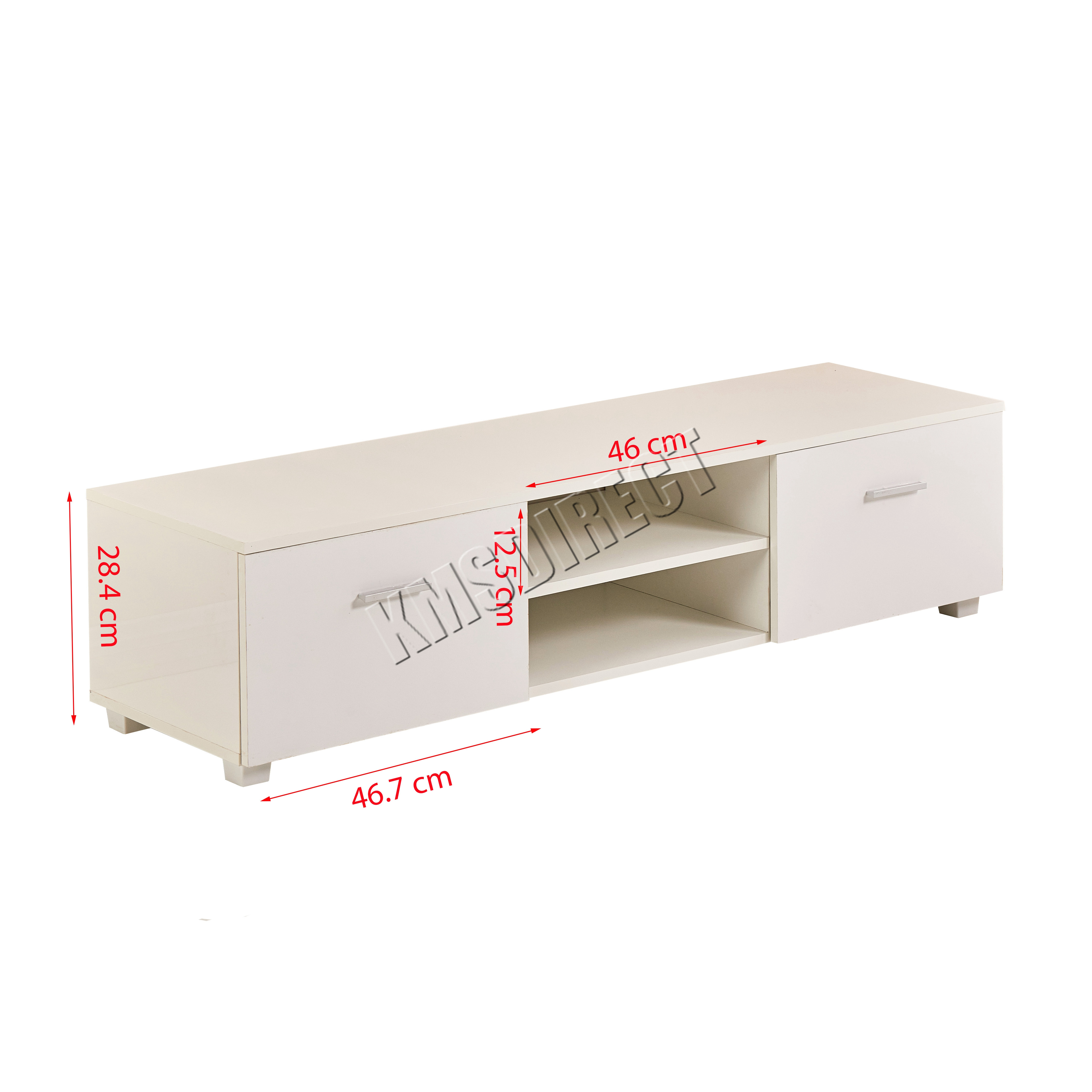 Foxhunter High Gloss Mdf Tv Cabinet Unit Stand White Home  # Meuble Tv Curved