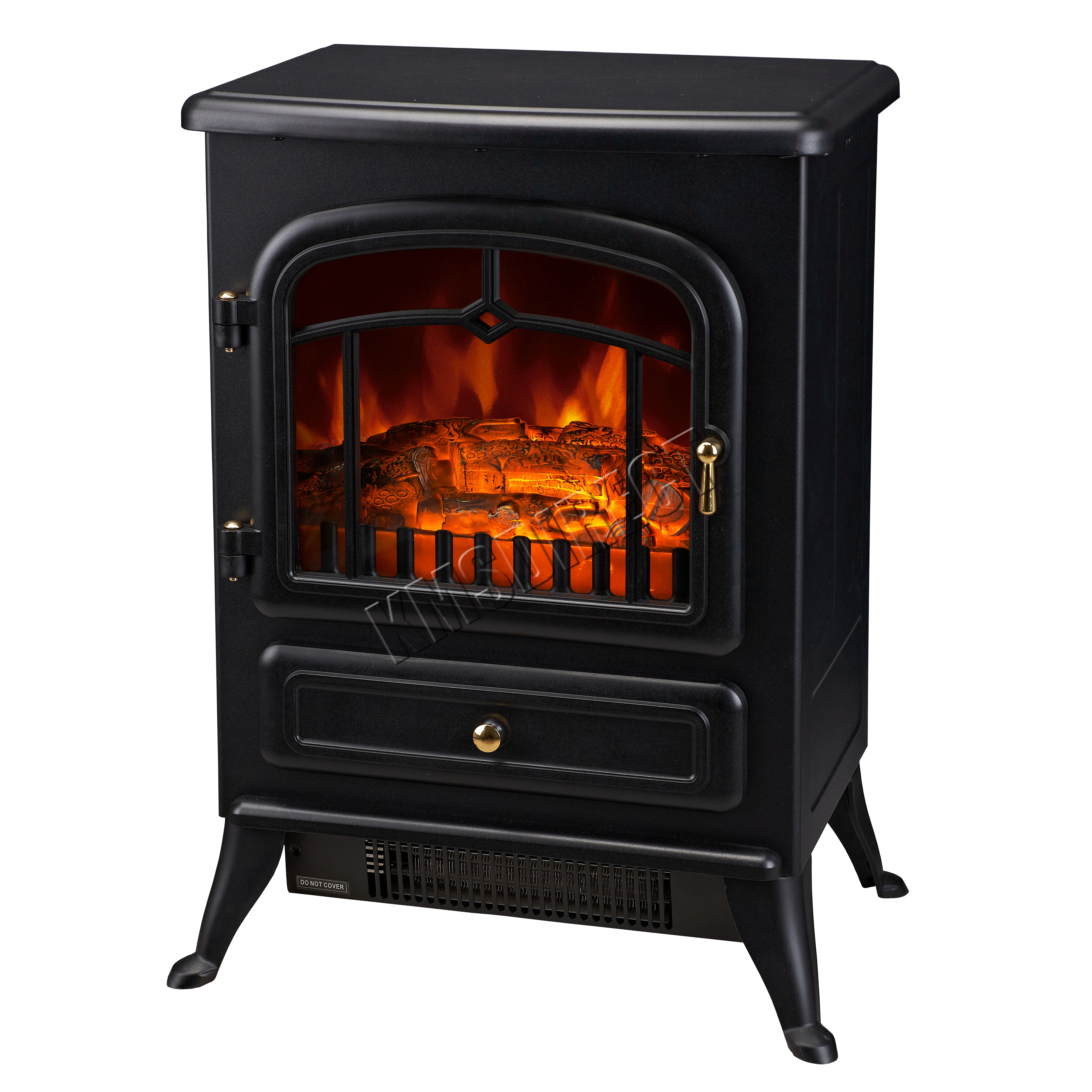 Foxhunter 1850w log burning effect electric fire stove for Calefactor mural electrico