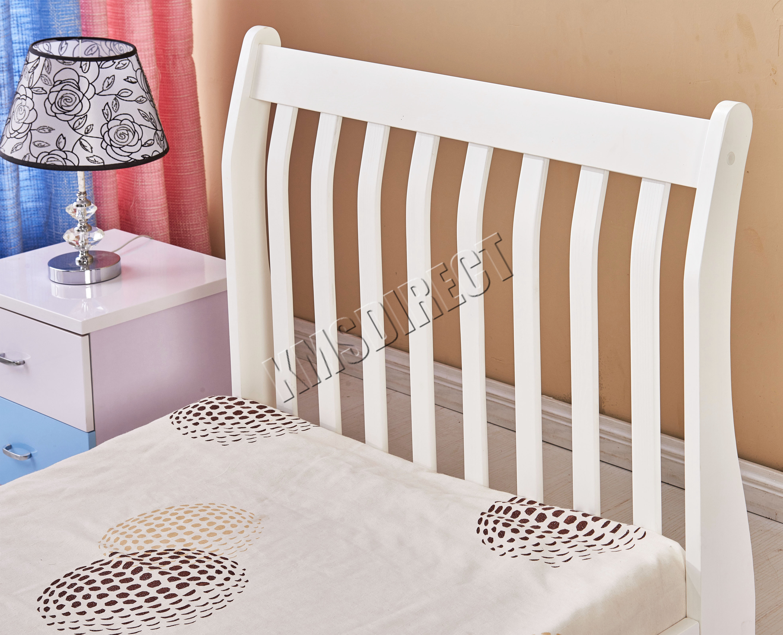 Westwood 3ft Single Wooden Sleigh Bed Frame Pine Bedroom Furniture
