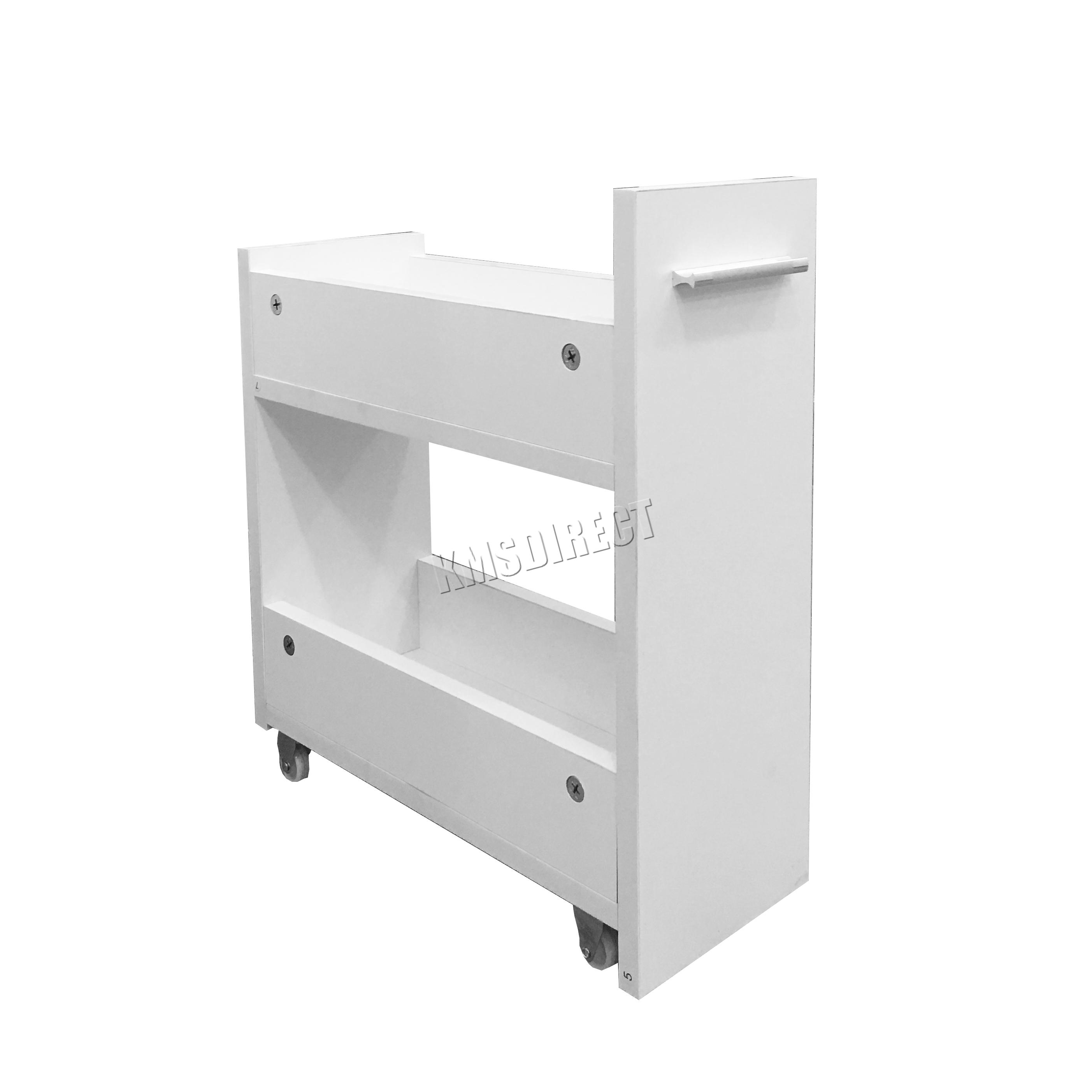 Westwood slimline bathroom slide out storage drawer for Slim bath cabinet
