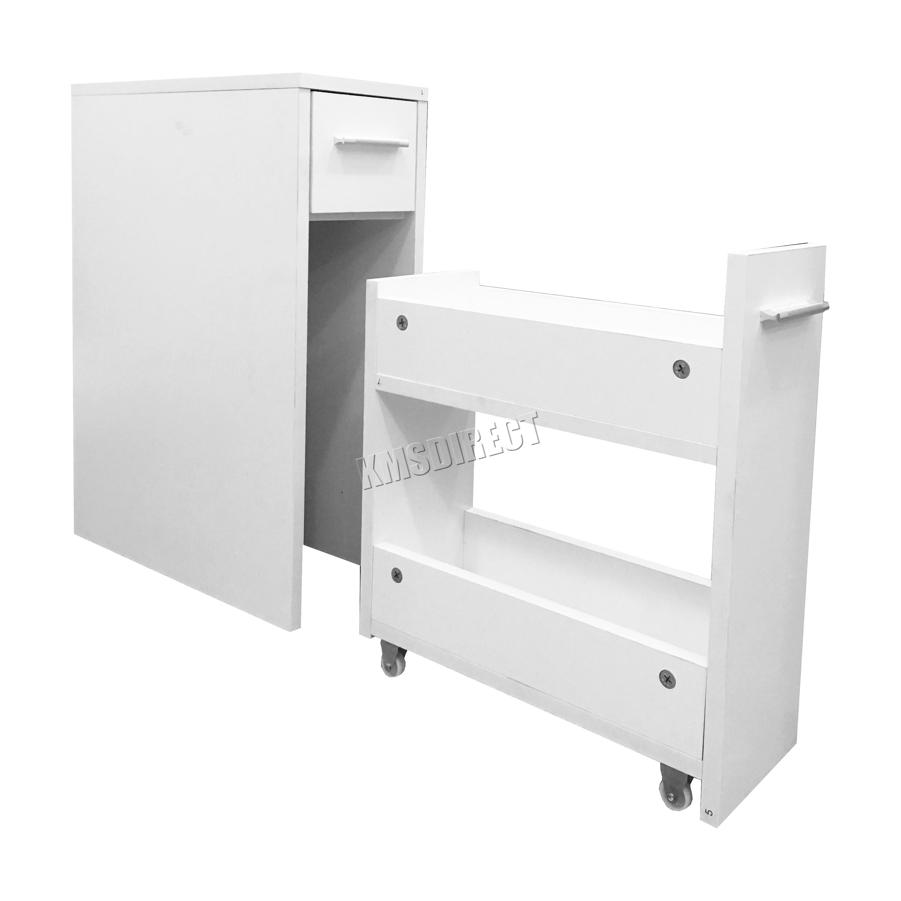 foxhunter bathroom kitchen slide out storage drawer cabinet slim cupboard unit ebay. Black Bedroom Furniture Sets. Home Design Ideas