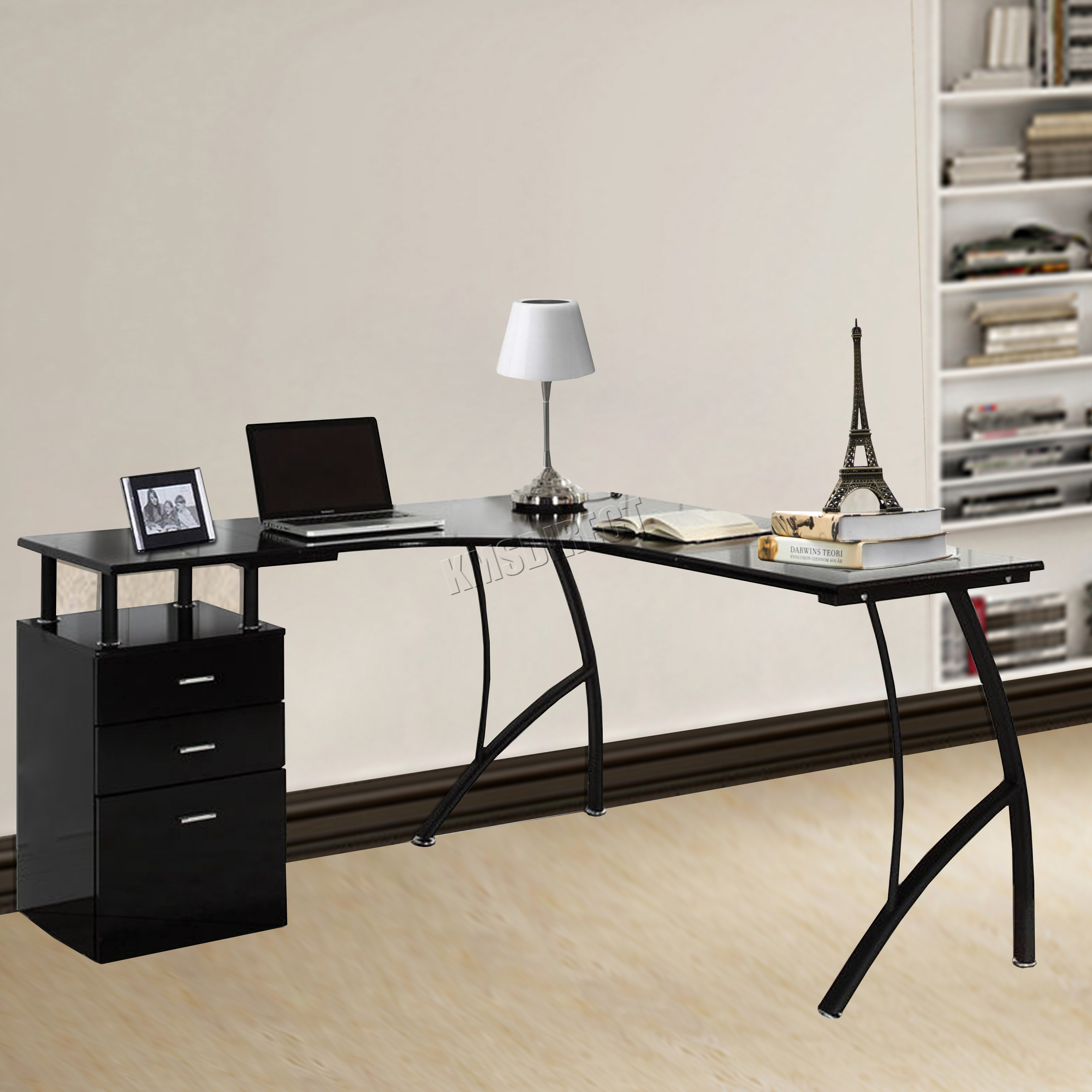 office study desk. Sentinel WestWood L-Shaped Corner Computer Desk PC Table Drawers Home Office Study CD04 N