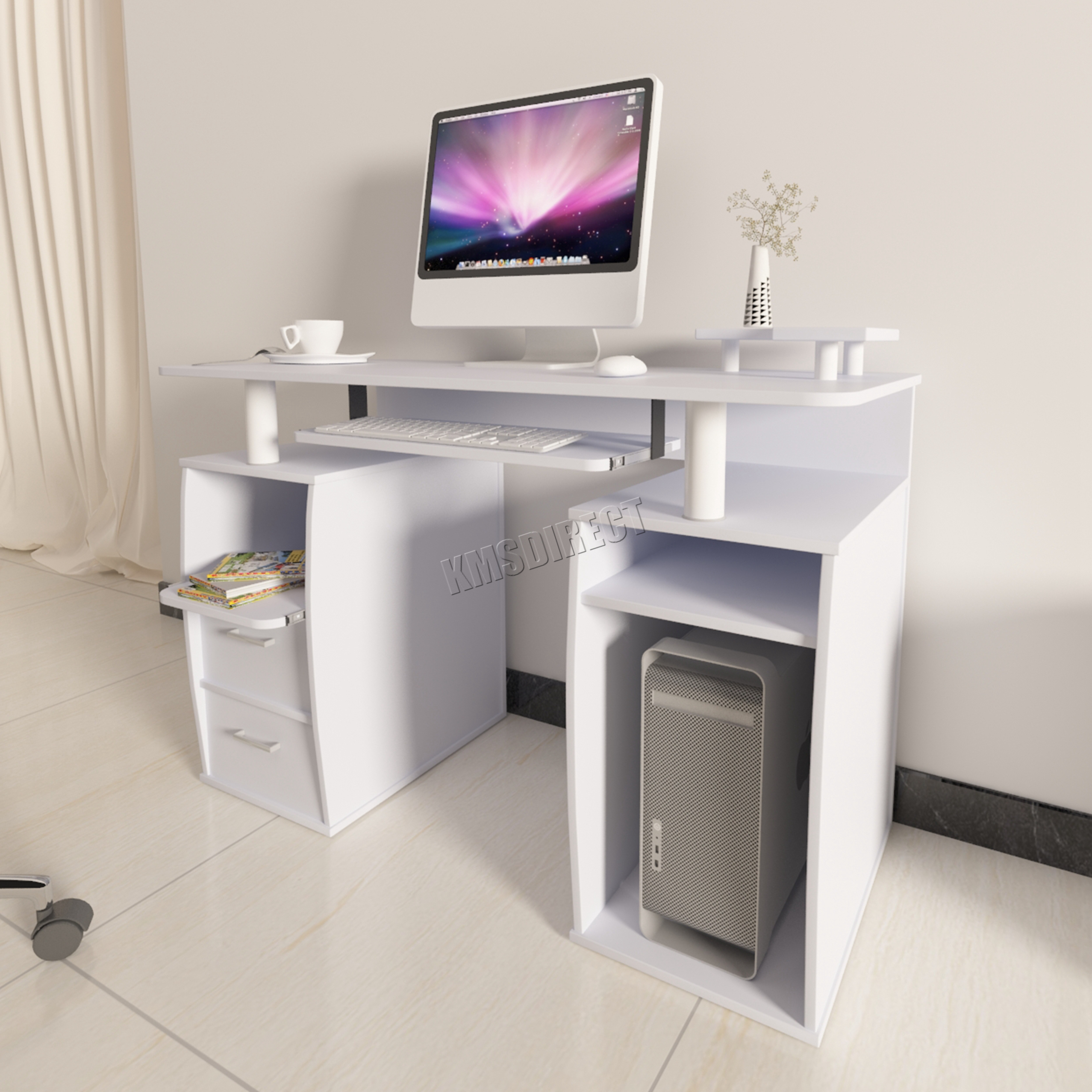 computer furniture for home. Interesting Home Sentinel WestWood Computer Desk PC Table With Shelves Drawers Home Office  Study CD05 And Furniture For I