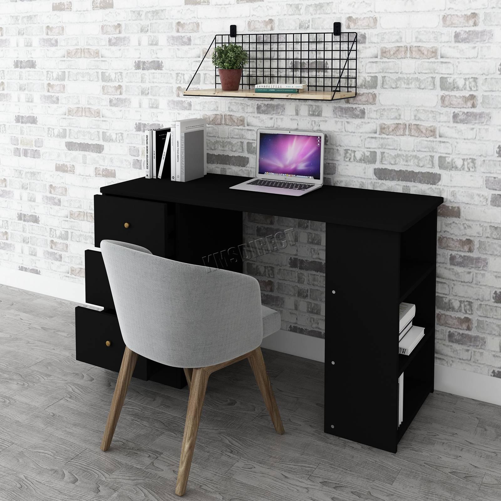 Scrivania Per Computer Design.Dettagli Su Westwood Computer Scrivania Con 3 Cassetti 3 Ripiani Pc Tavolo Casa Ufficio Studio Cd06 Mostra Il Titolo Originale