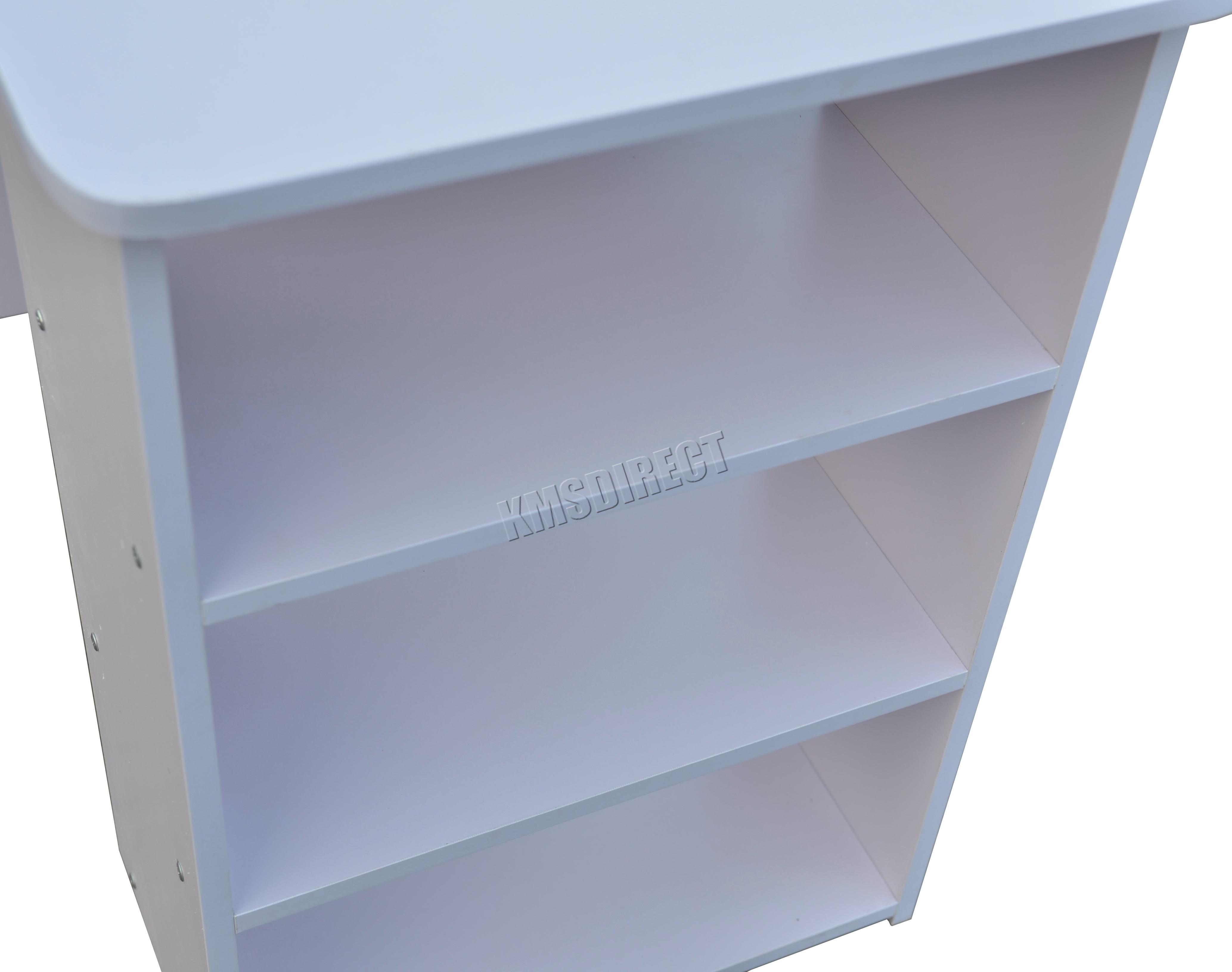 Westwood computador escritorio con 3 cajones 3 estanter as pc mesa hogar oficina ebay - Mesa escritorio con cajones ...