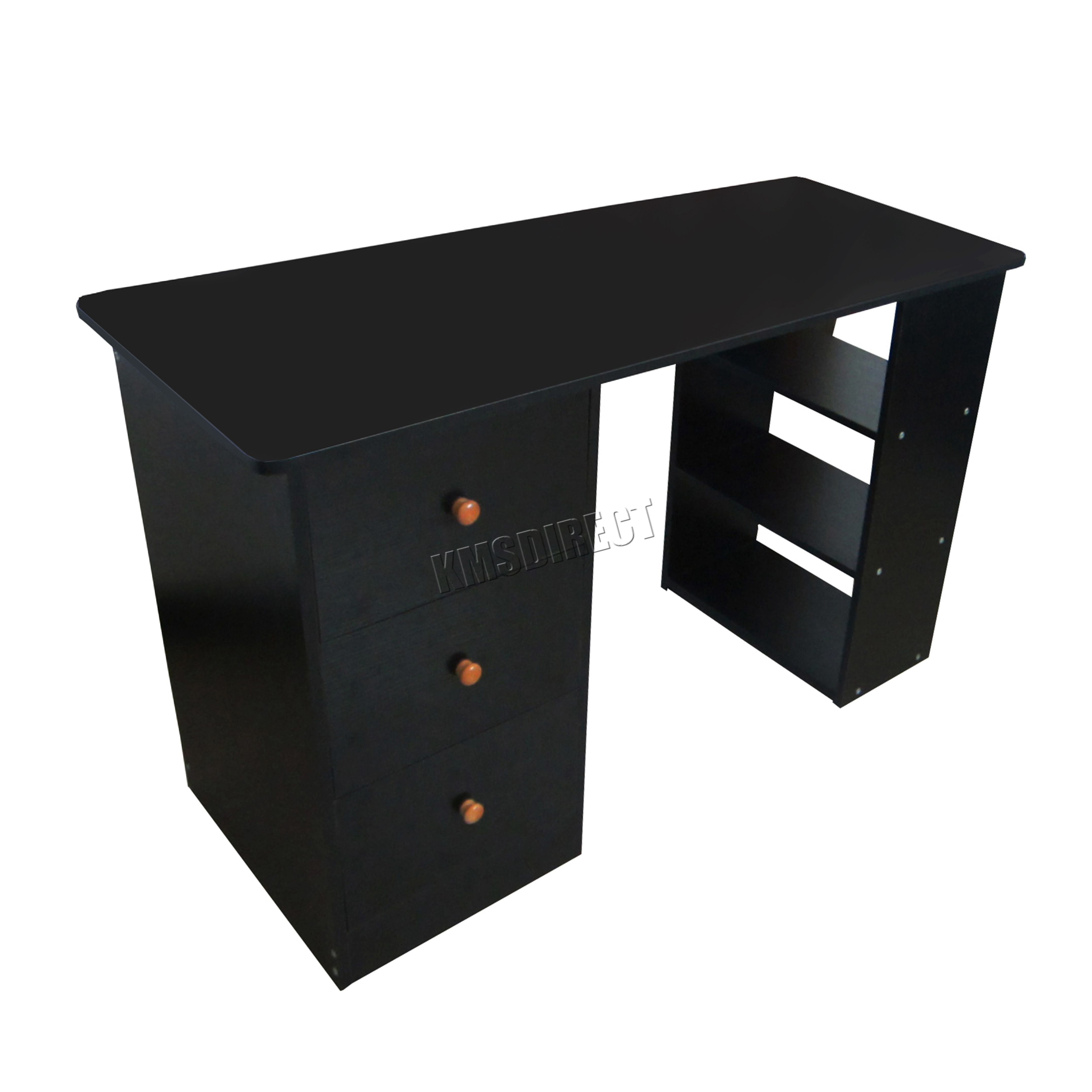 westwood computer desk with 3 drawers 3 shelves pc table home office