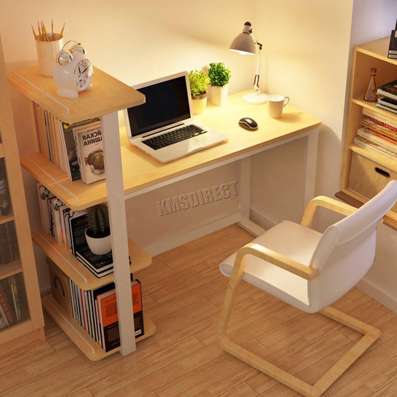 Westwood 4 Tiers Shelf Corner Computer Desk Home