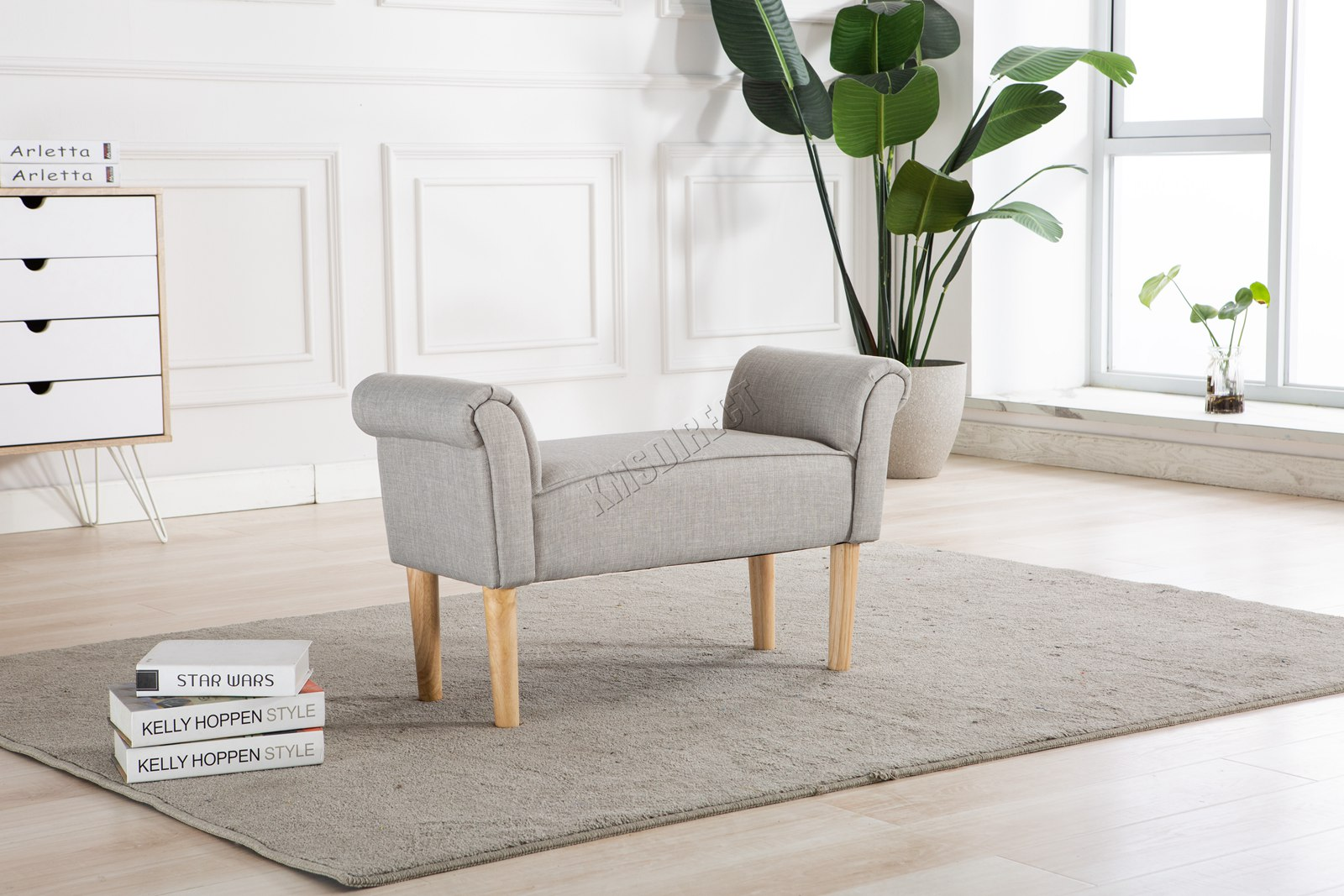 Westwood fabric bench footstool seat pouf pouffee ottoman stool bedroom lounge ebay - Pouf camera da letto ...