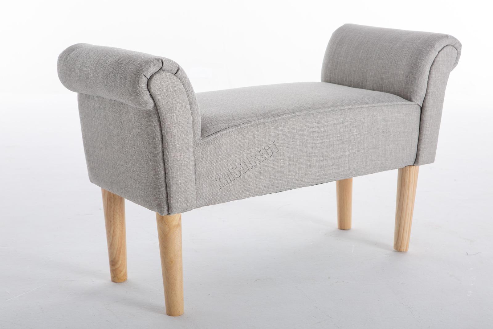 Westwood fabric bench footstool seat pouf pouffee ottoman stool bedroom lounge ebay - Poggiapiedi letto ...