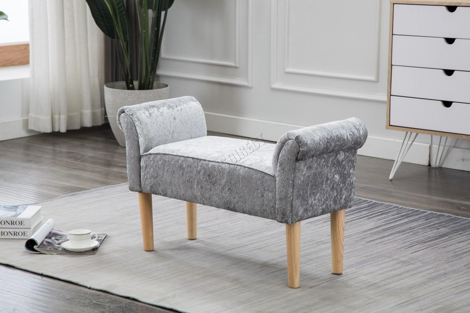 foxhunter fabric bench footstool seat pouf pouffee ottoman