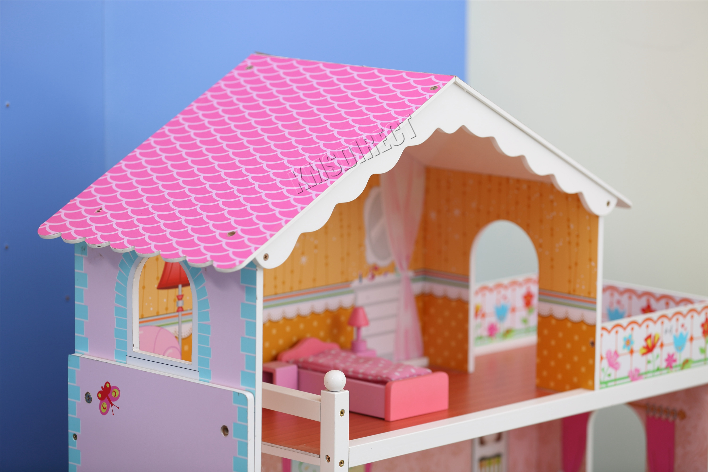 Foxhunter Deluxe Doll House Set Kids Girls Children Toy Playset Game