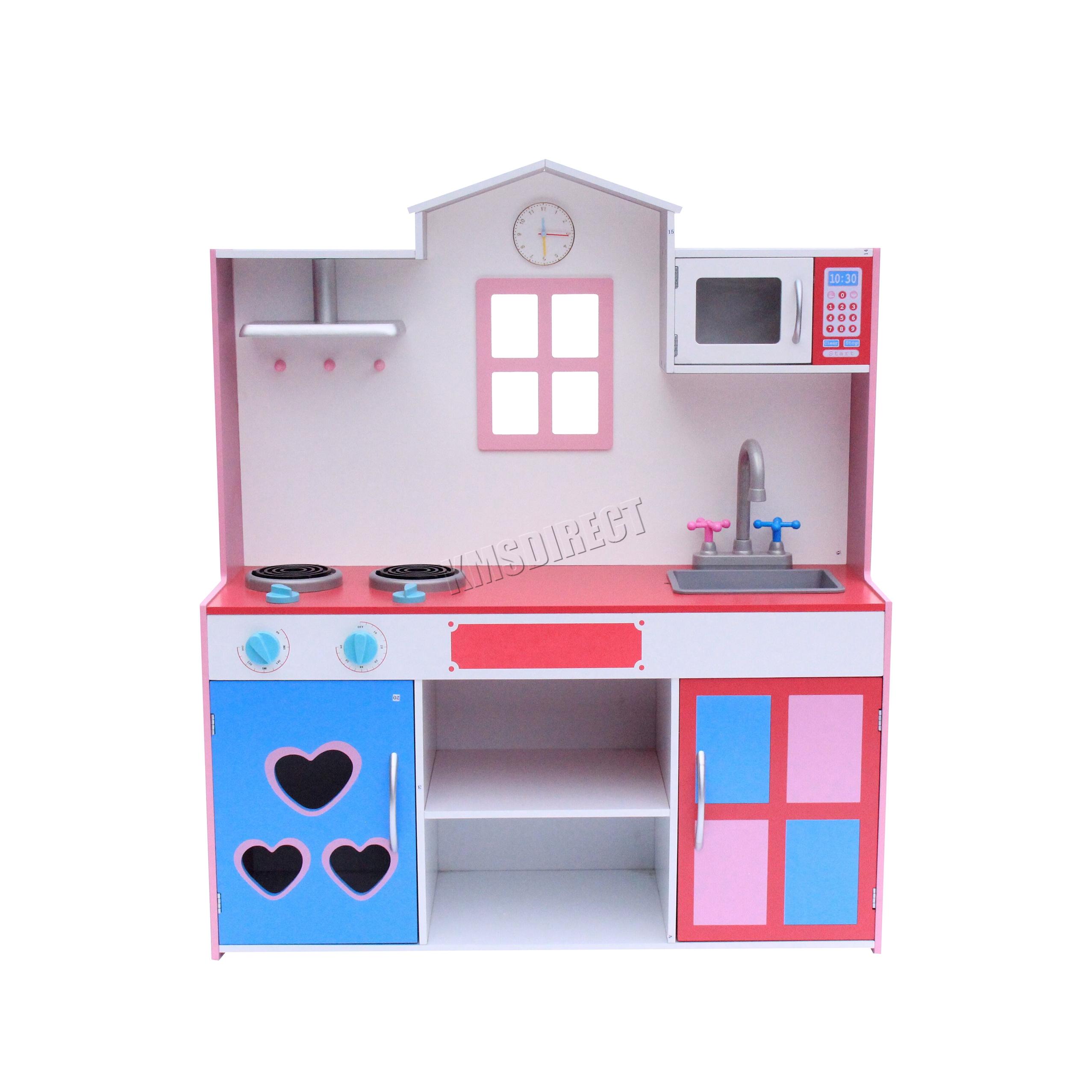 FoxHunter Large Wooden Kitchen Playset Toy Kids Children Cooking ...