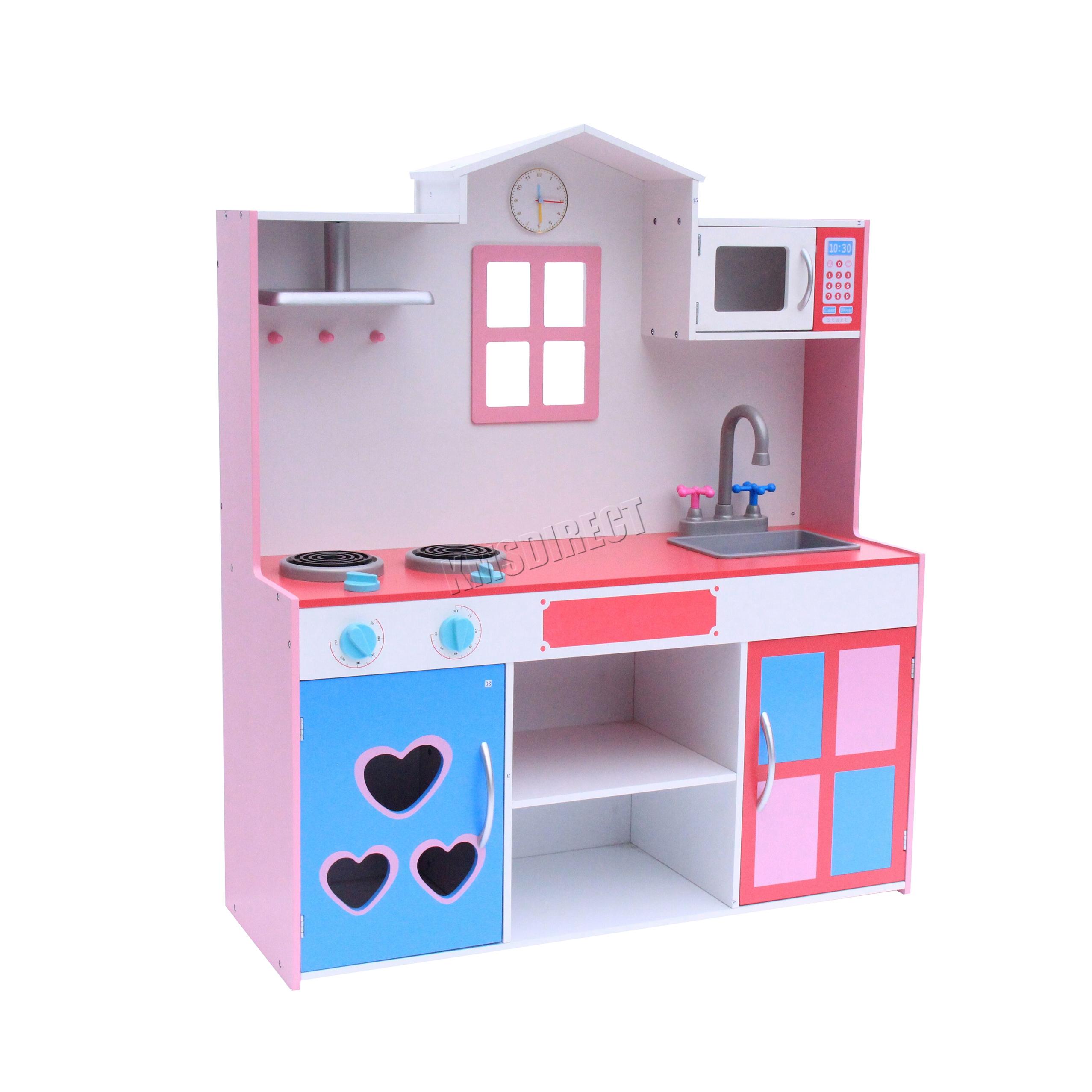 FoxHunter Wooden Kitchen Playset Toy Kids Children Cooking