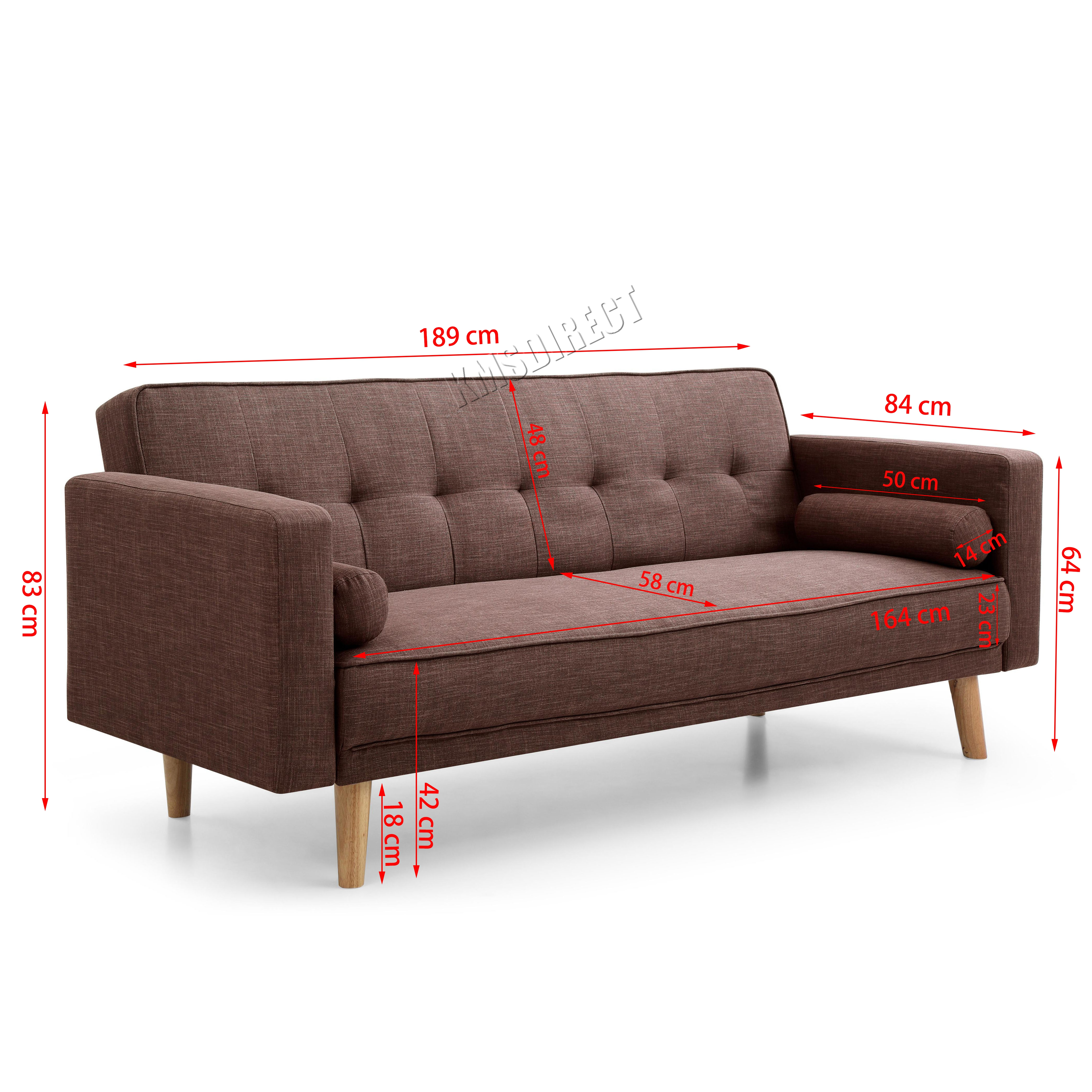 Westwood fabric sofa bed 3 seater couch luxury modern home for Sofa bed 1 seater
