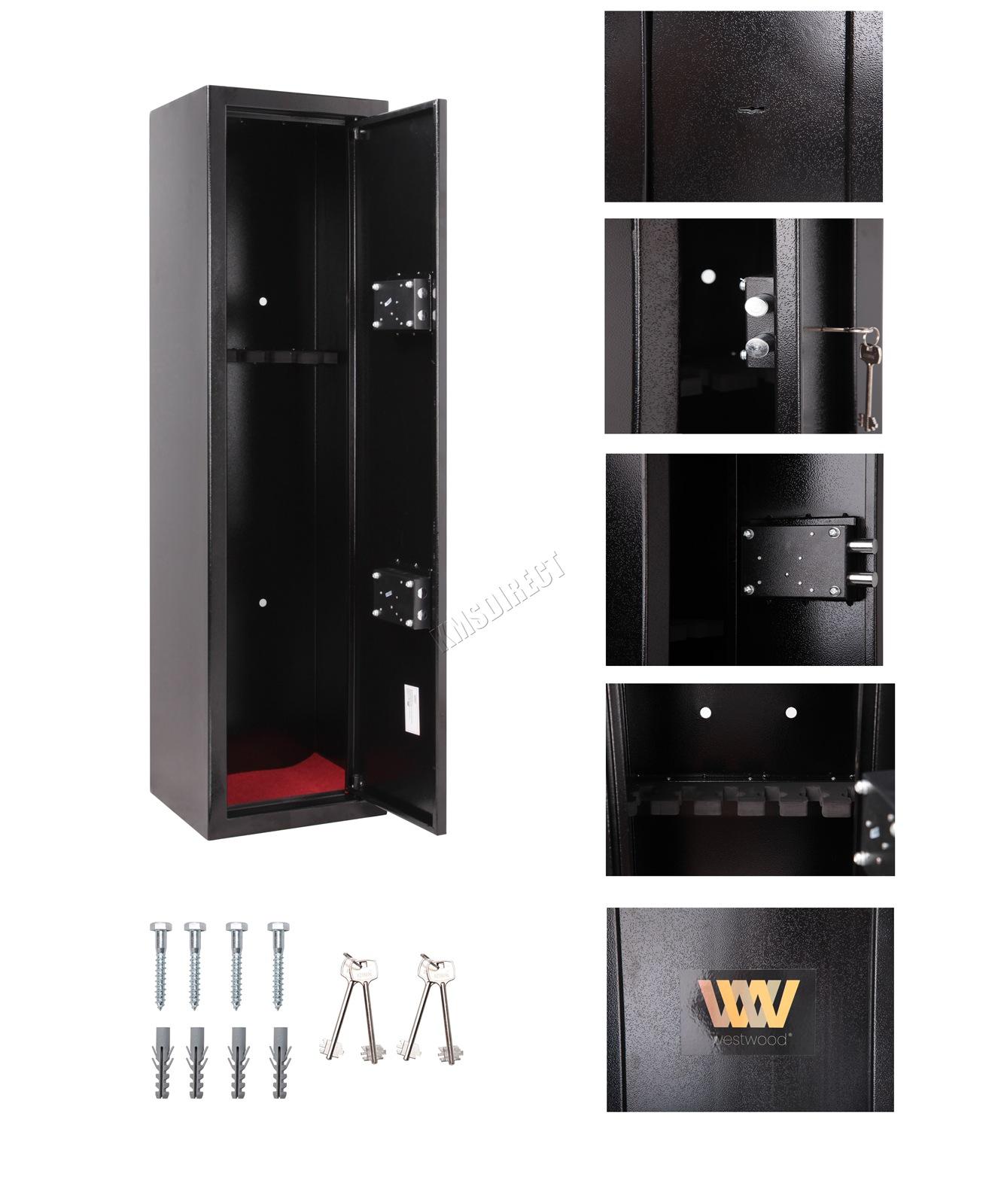 WestWood-3-Or-6-Gun-Cabinet-Security-Lockable-  sc 1 st  eBay & WestWood 3 Or 6 Gun Cabinet Security Lockable Safe Storage Rifle ...