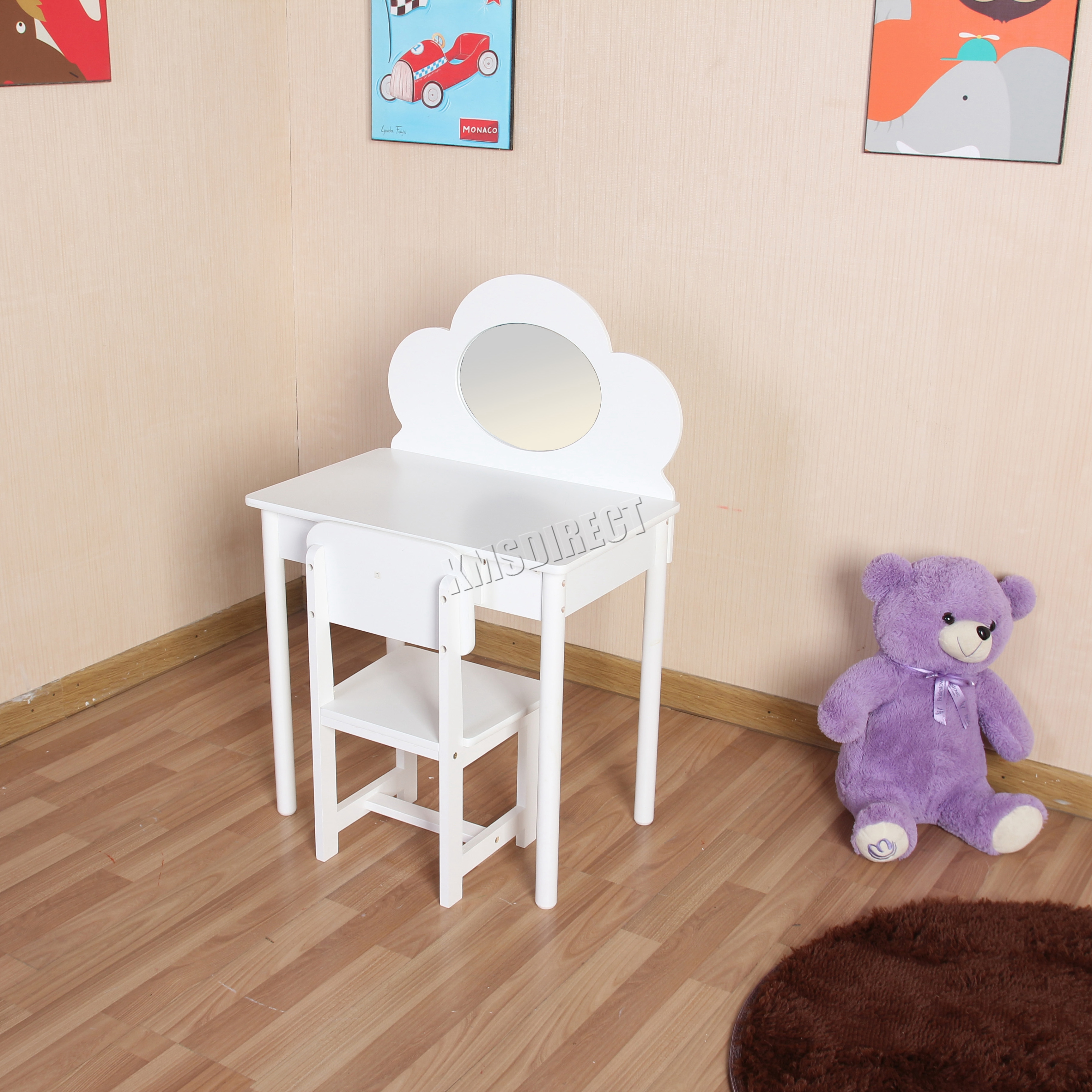 style vanity stool frame makeup mirror set traditional itm oval table ashley bedroom and wooden wood