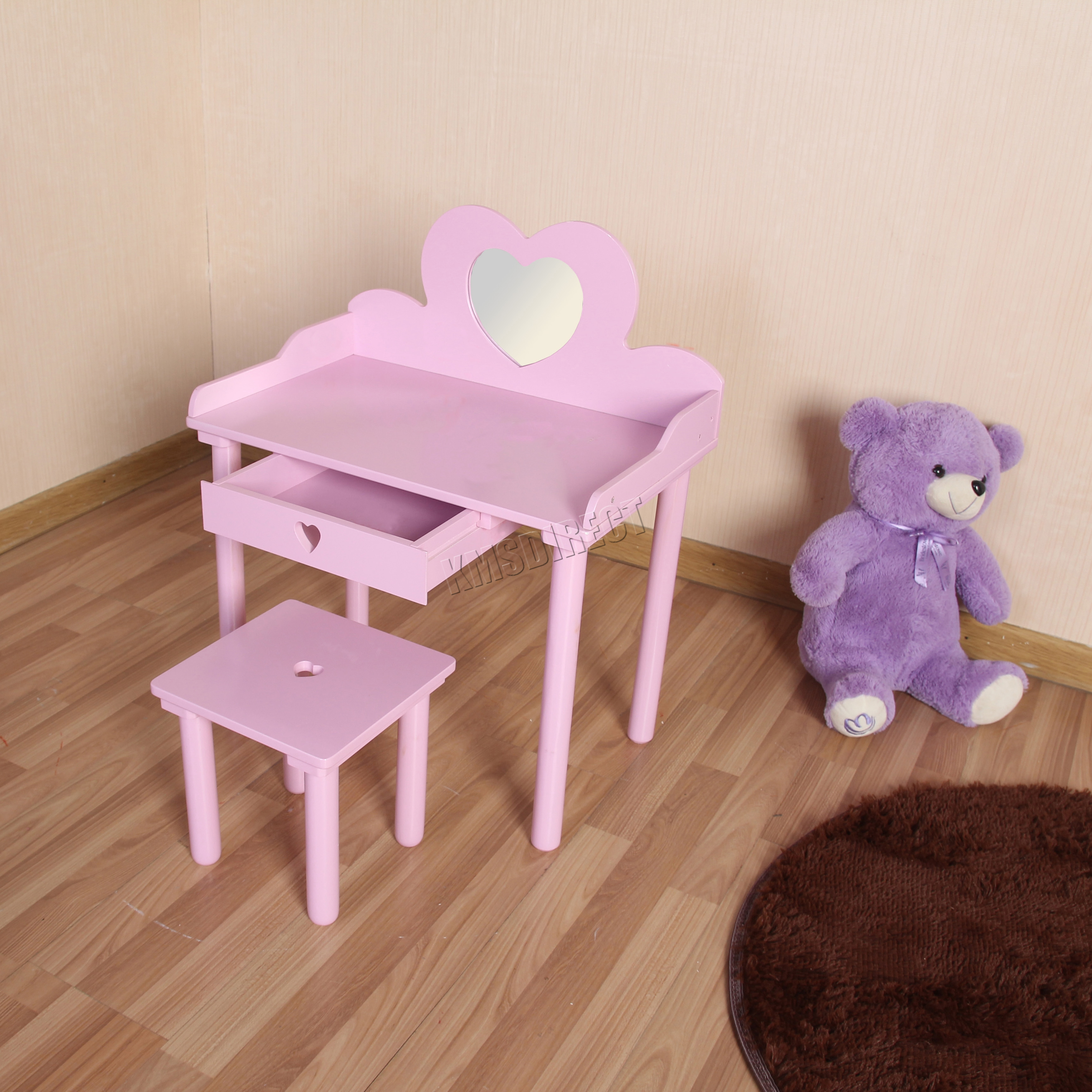 FoxHunter Kids Girls Dressing Table Chair Set Makeup ...