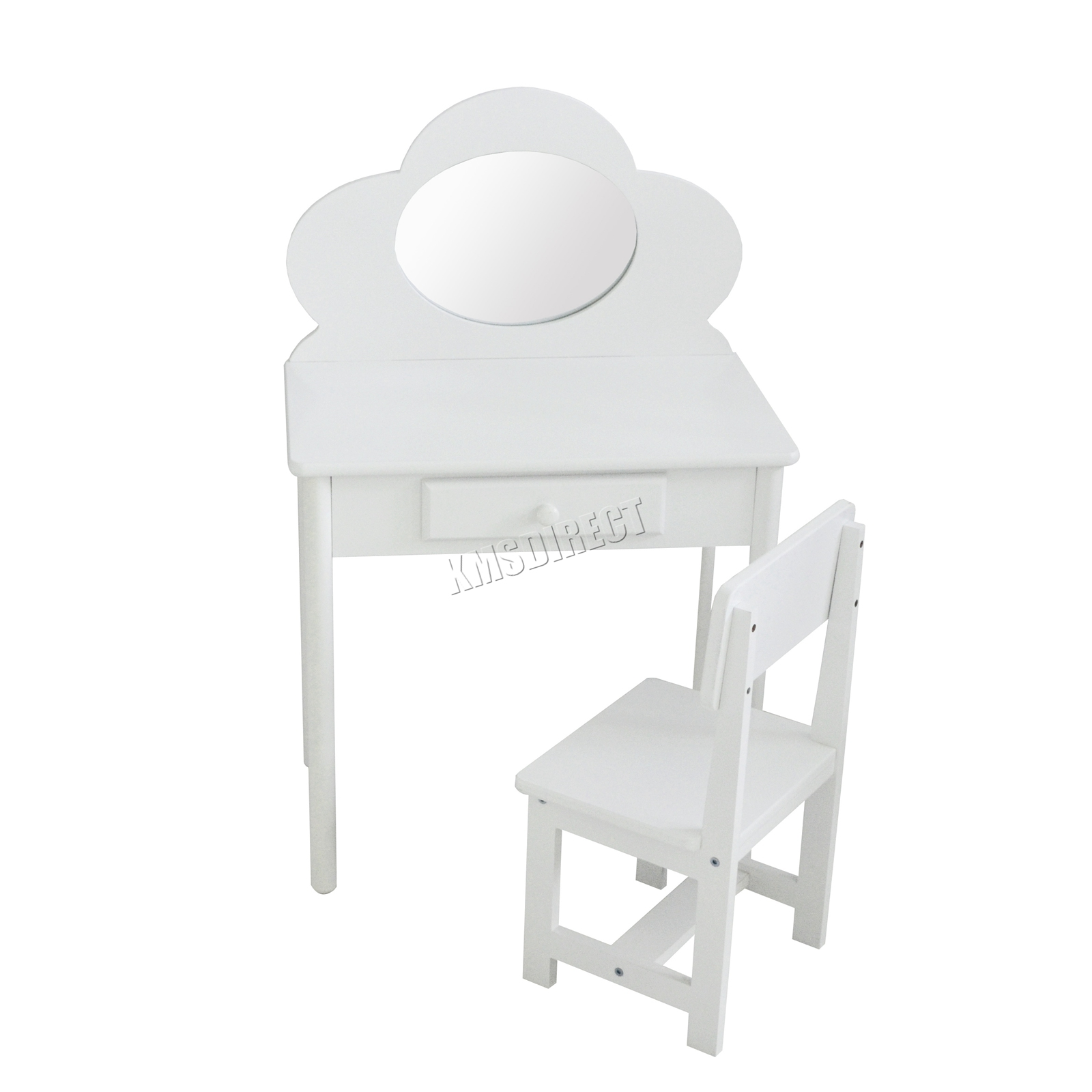 online store 9a4fc fde9d Details about FoxHunter Children's Dressing Table With Mirror – Girls Kids  Makeup Table Chair