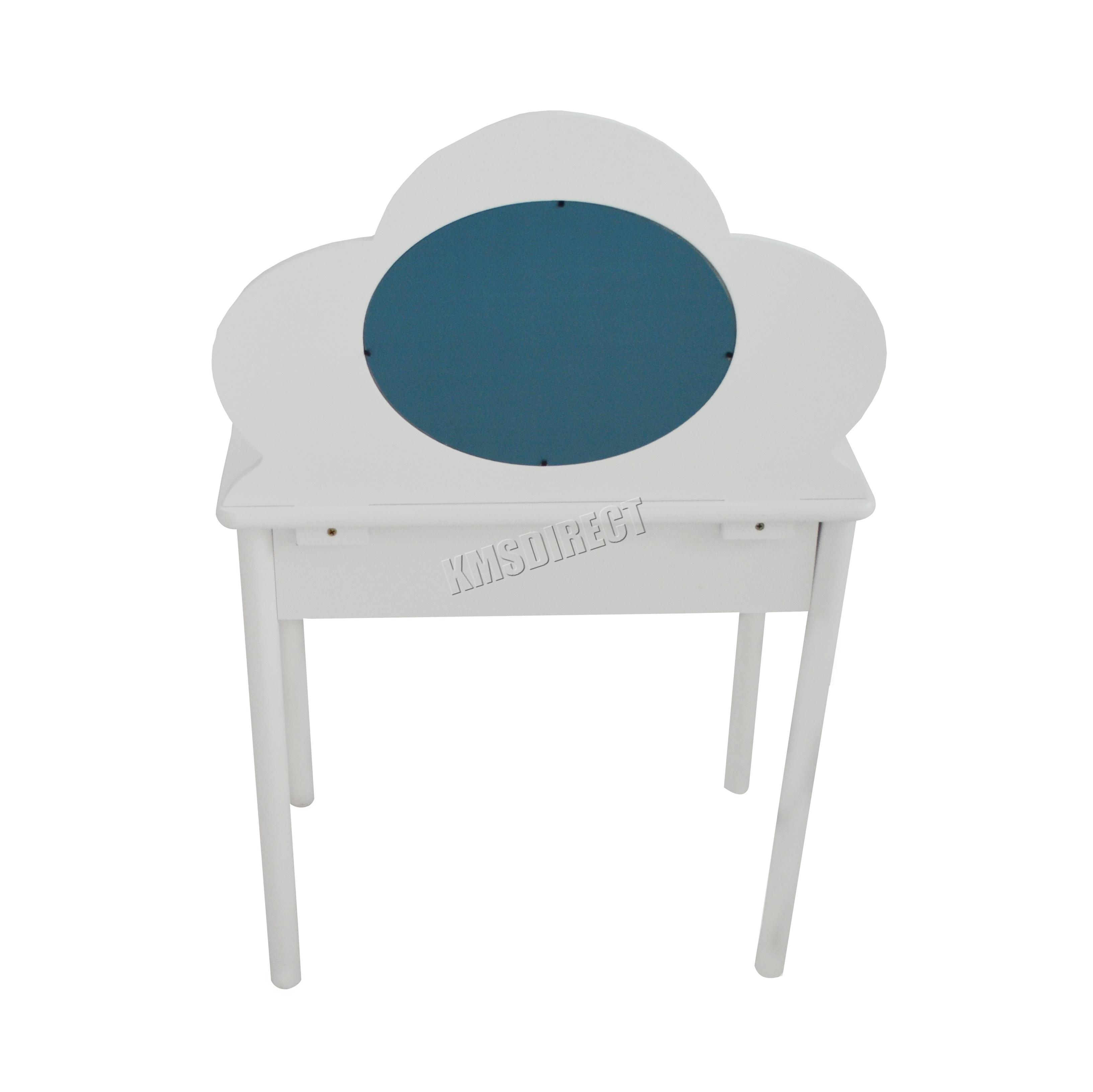 FoxHunter Kids Girls Dressing Table Chair Set Makeup Vanity Mirror