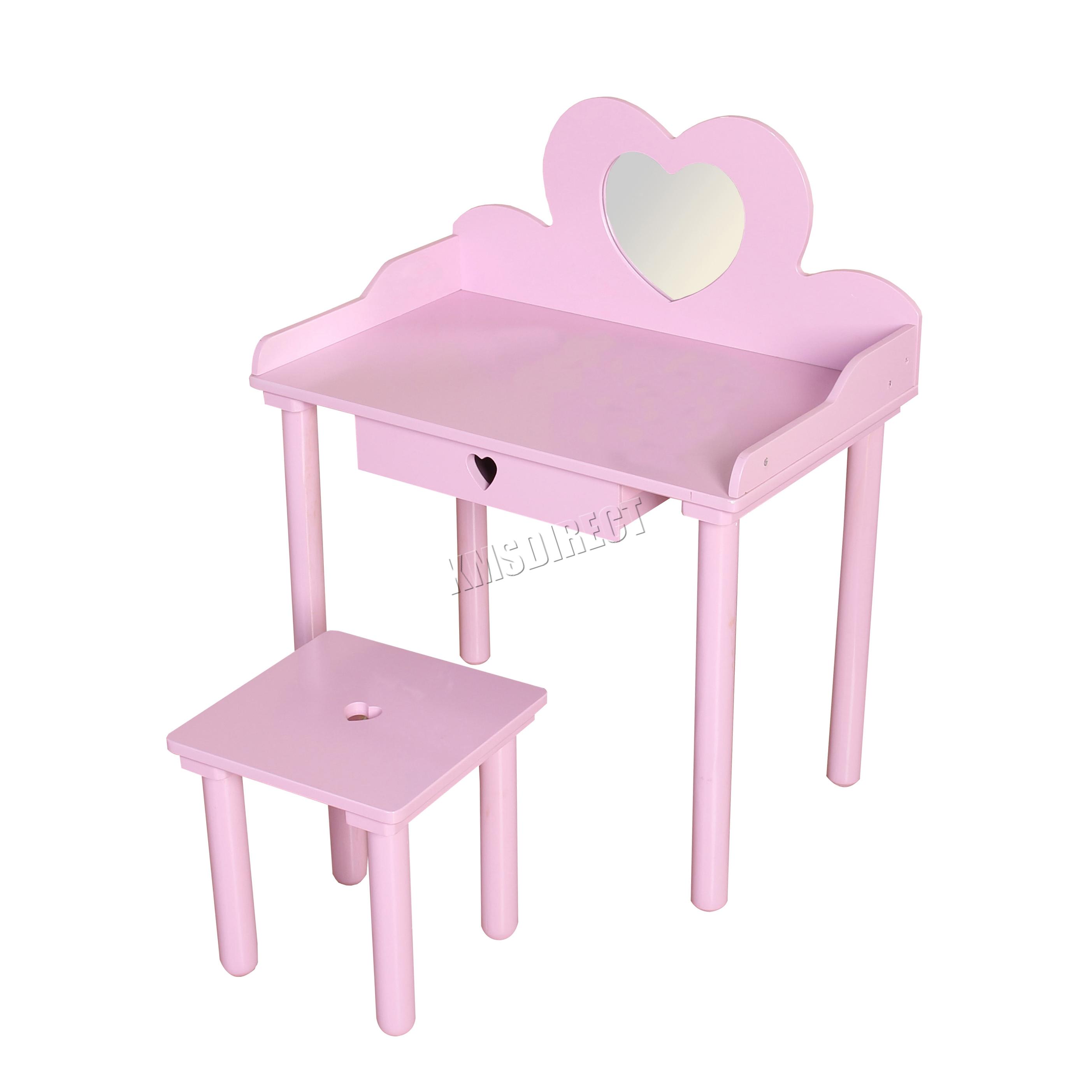 Foxhunter Kids S Dressing Table Chair Set Makeup