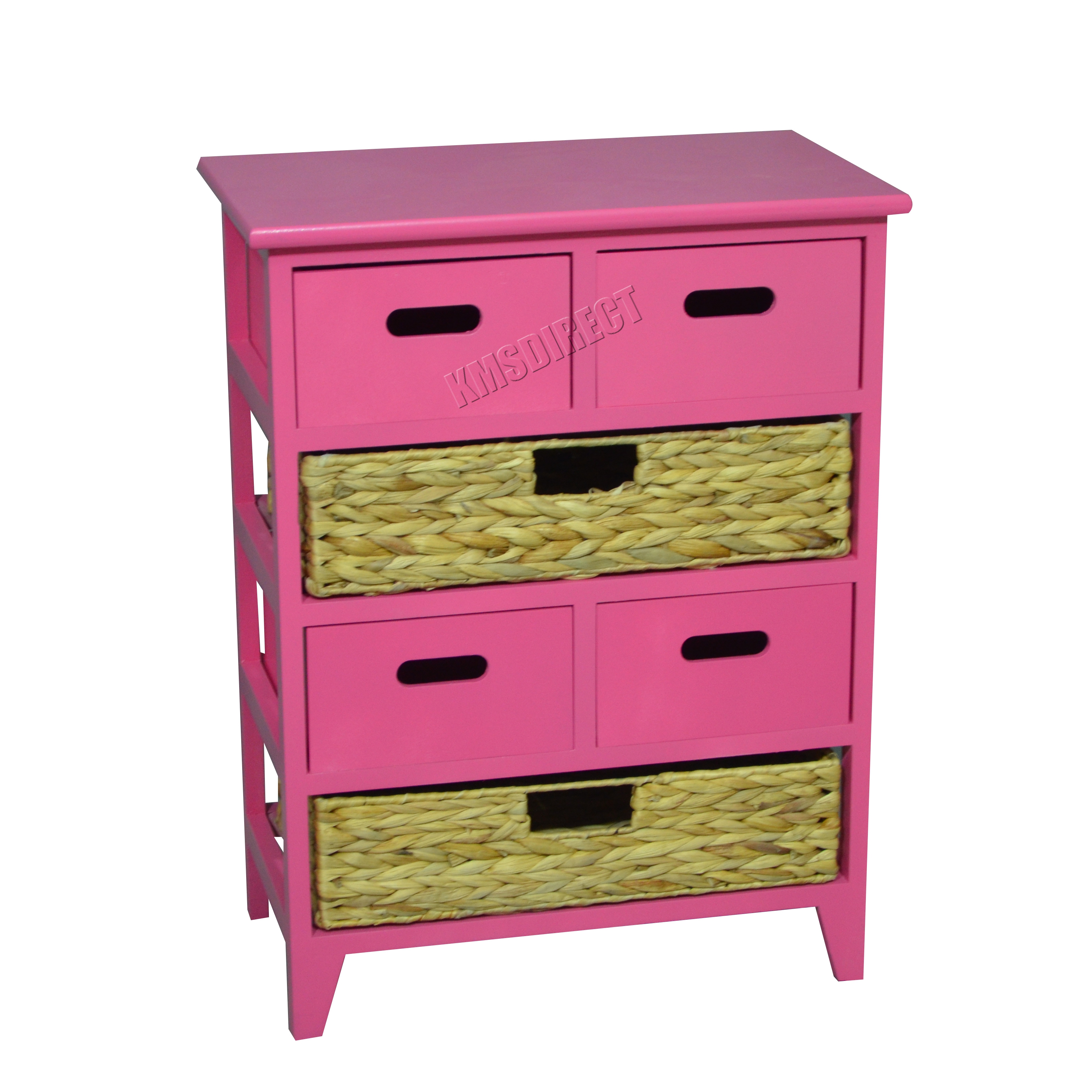westwood table de chevet unit avec panier en osier x. Black Bedroom Furniture Sets. Home Design Ideas