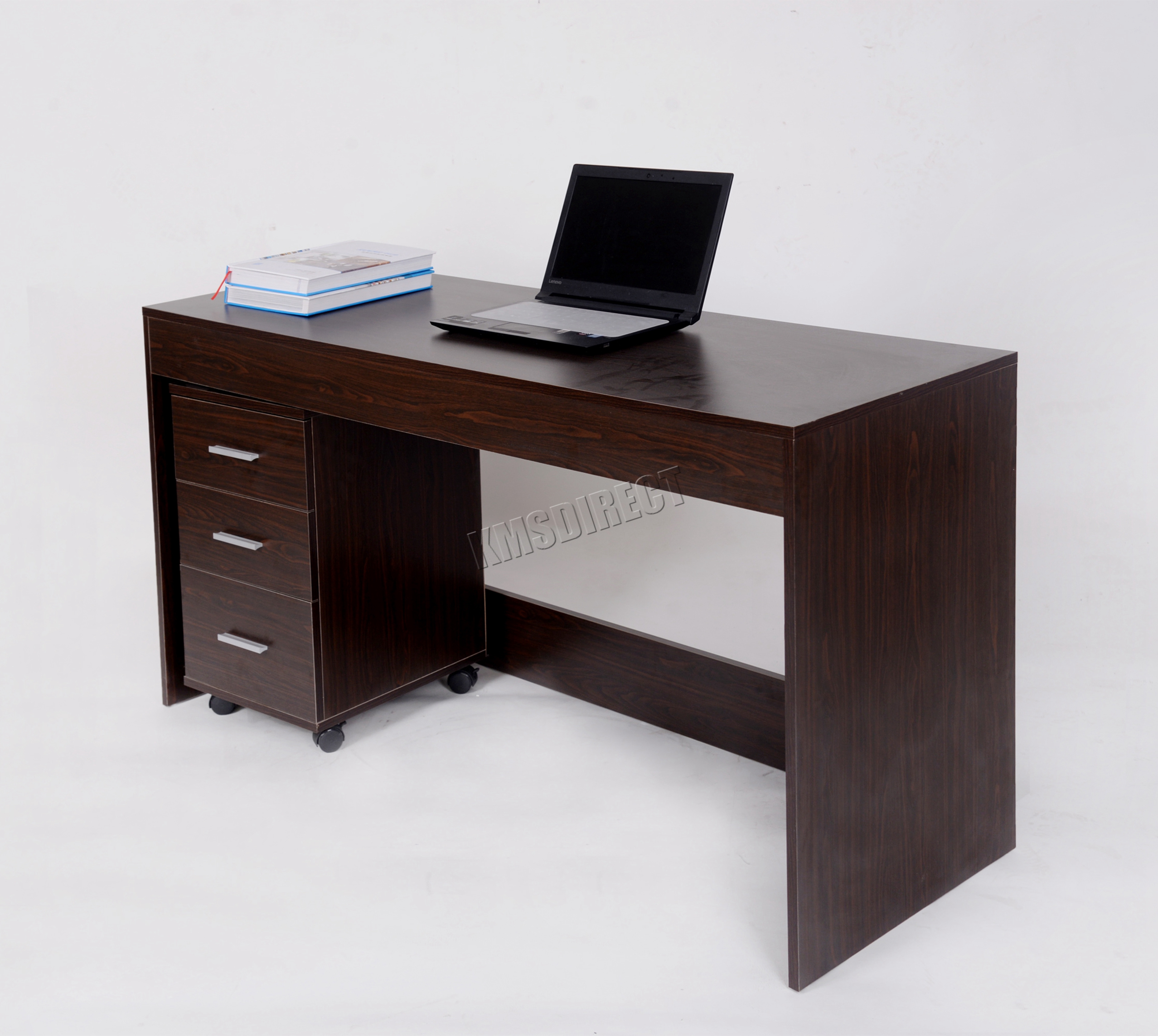 Westwood computador escritorio pc mesa con 3 cajones hogar for Mesa escritorio con cajones