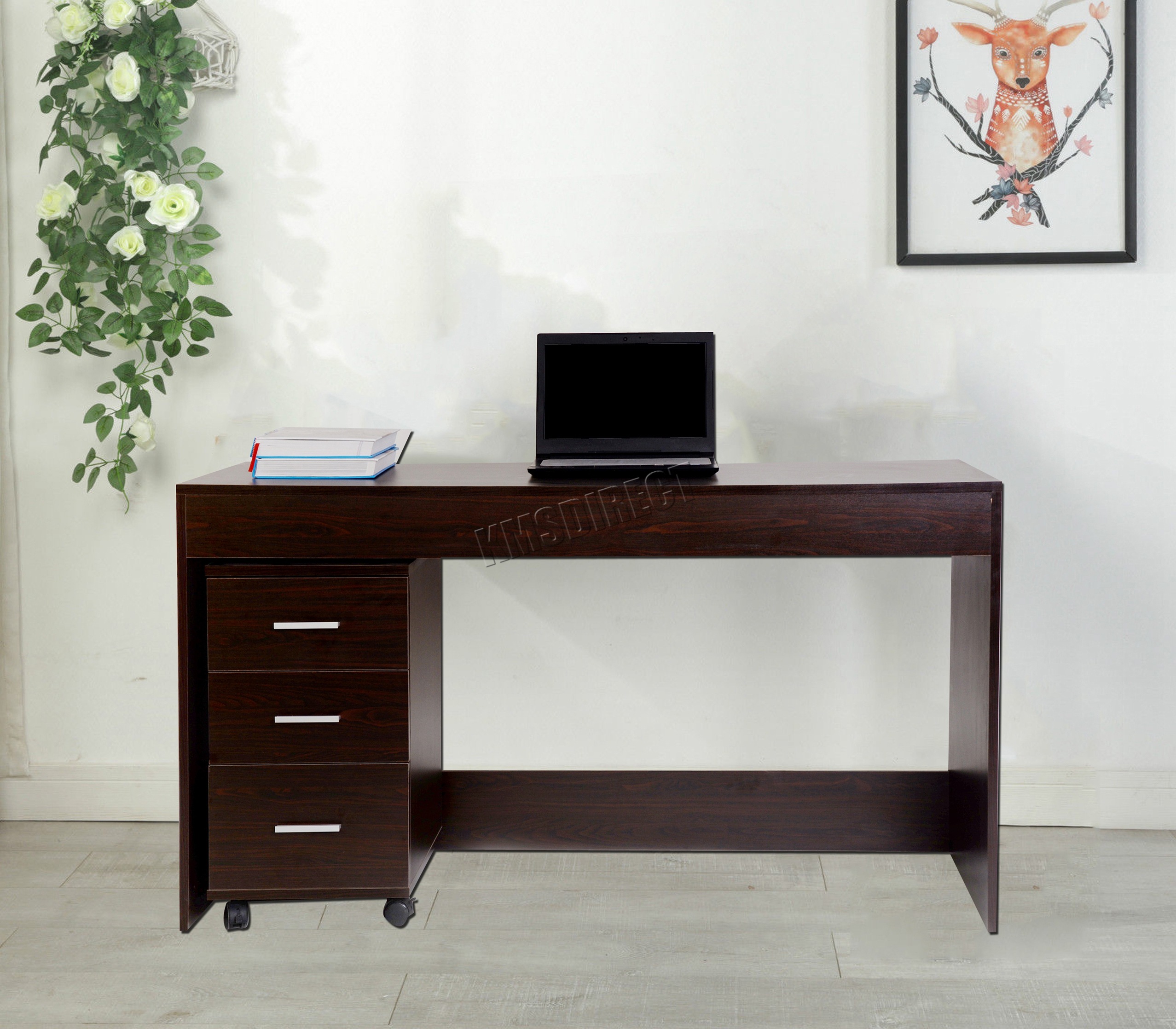 com inval with america dining writing drawers amazon kitchen dp desk espresso drawer wengue