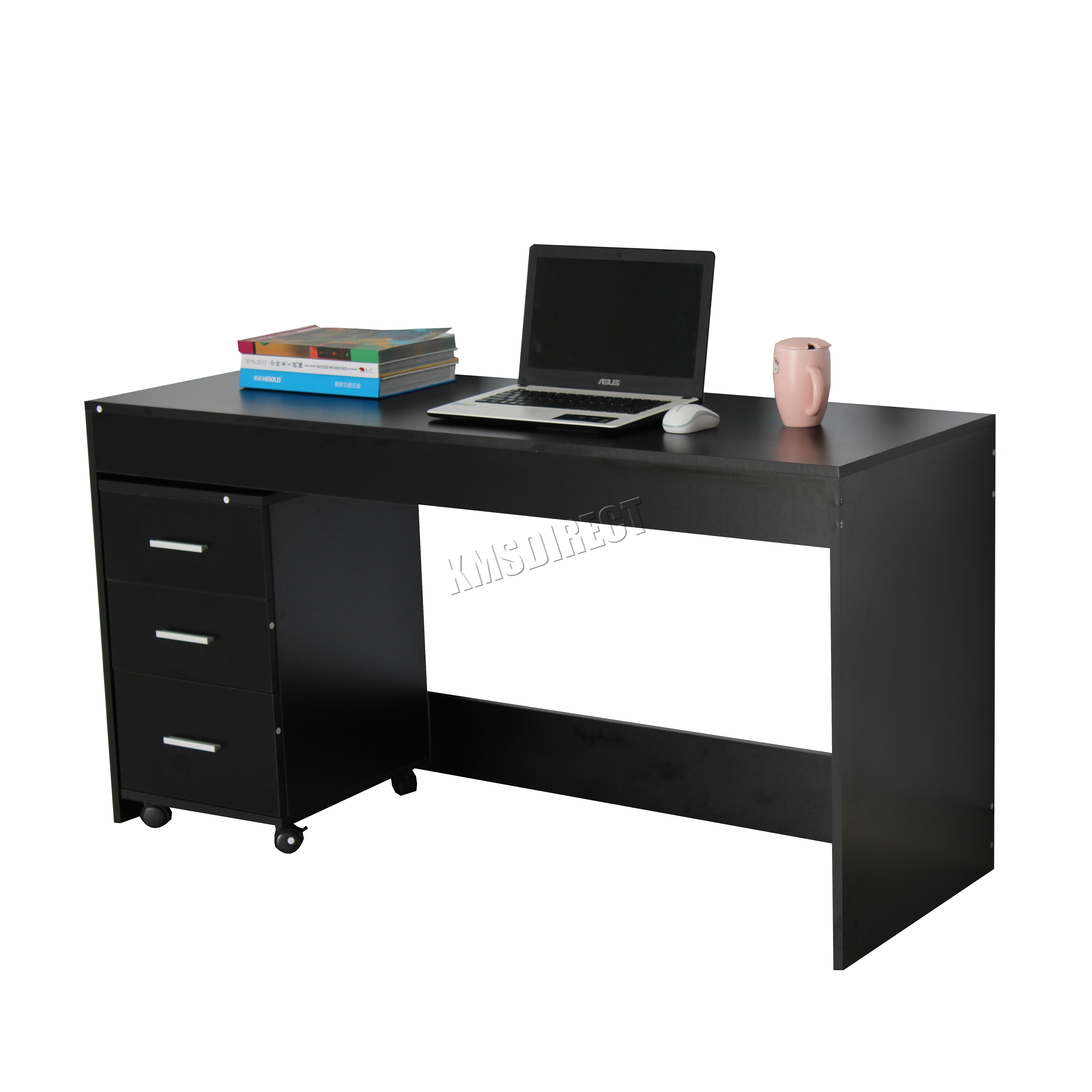 Foxhunter computer desk pc table with 3 drawers home for Better homes and gardens furniture customer service phone number