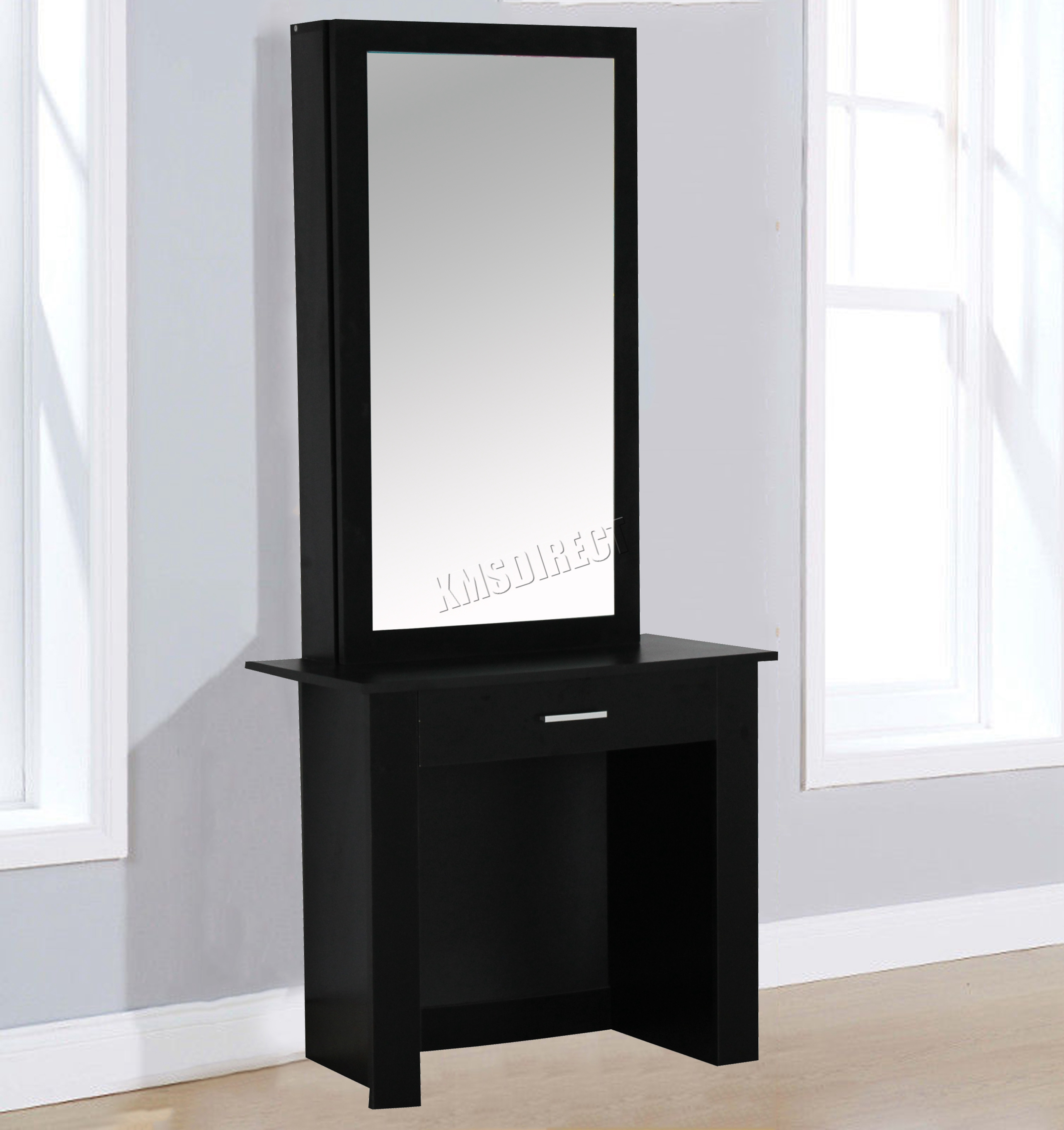 Gentil WestWood Wooden Makeup Jewelry Dressing Table With Sliding