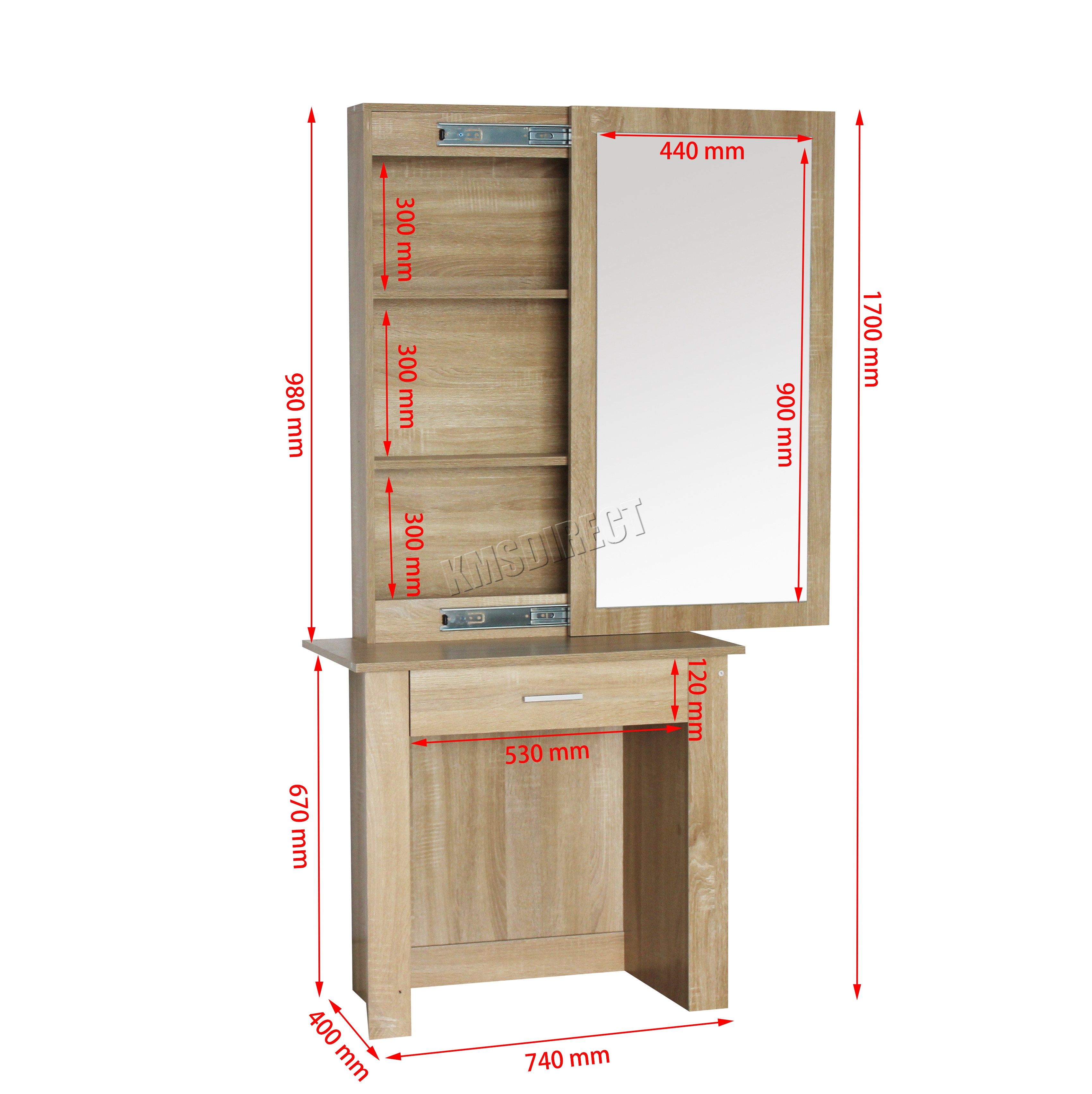 Wooden Dressing Mirror With Jewelry Cabinet Diy ~ Foxhunter wooden makeup jewelry dressing table with