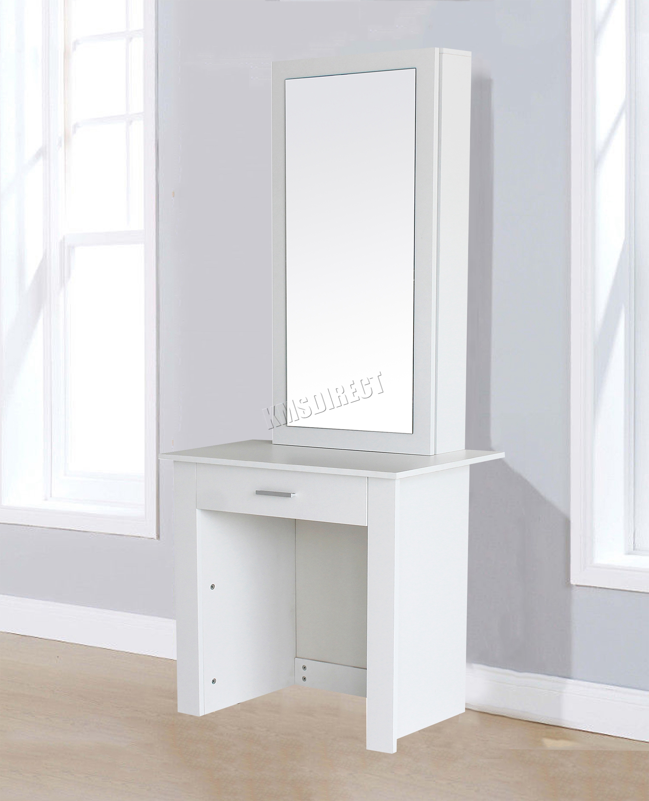 Sentinel Westwood Wooden Makeup Jewelry Dressing Table With Sliding Mirror Drawer Dt04