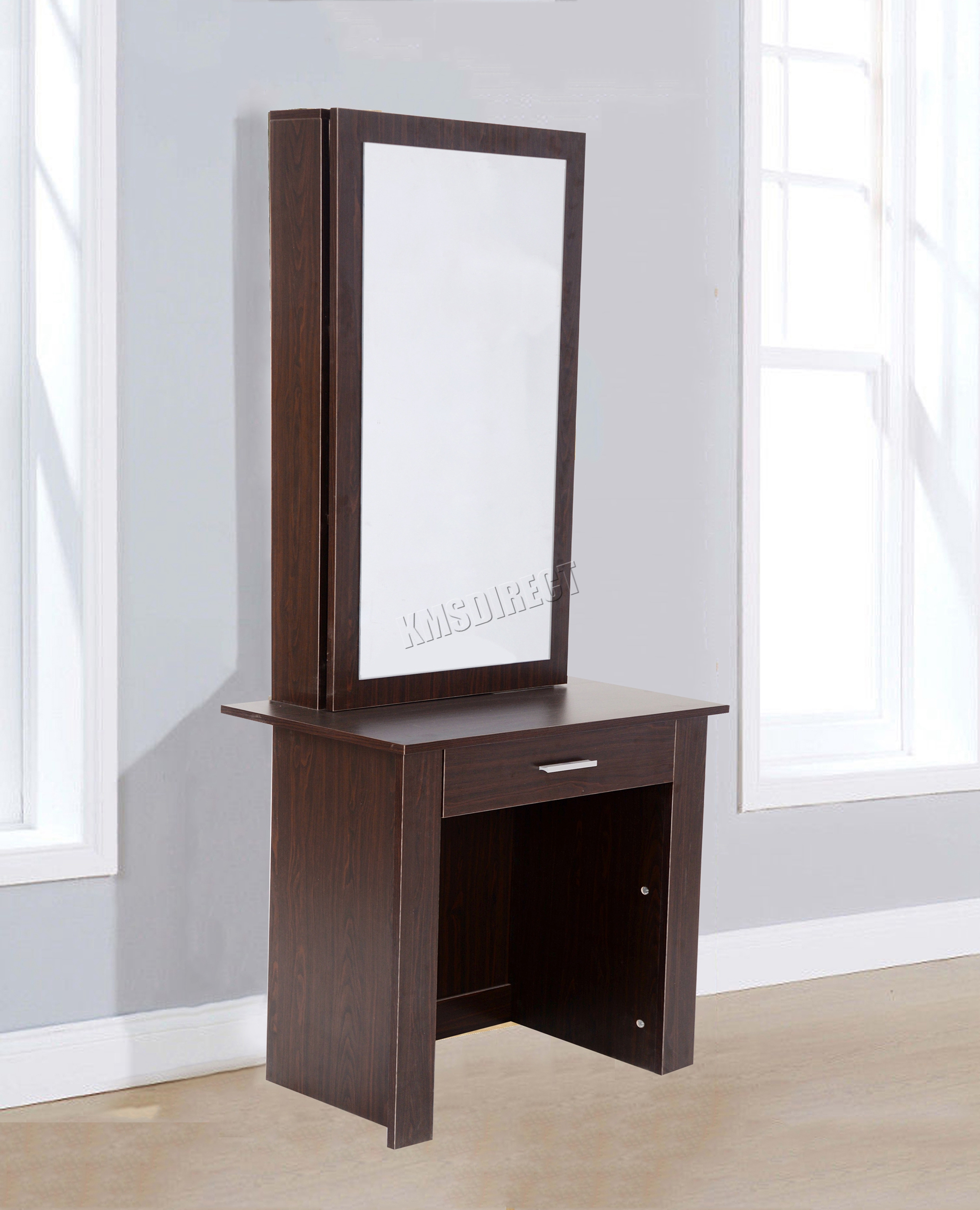 Westwood wooden makeup jewelry dressing table with sliding for Vanity table with drawers no mirror