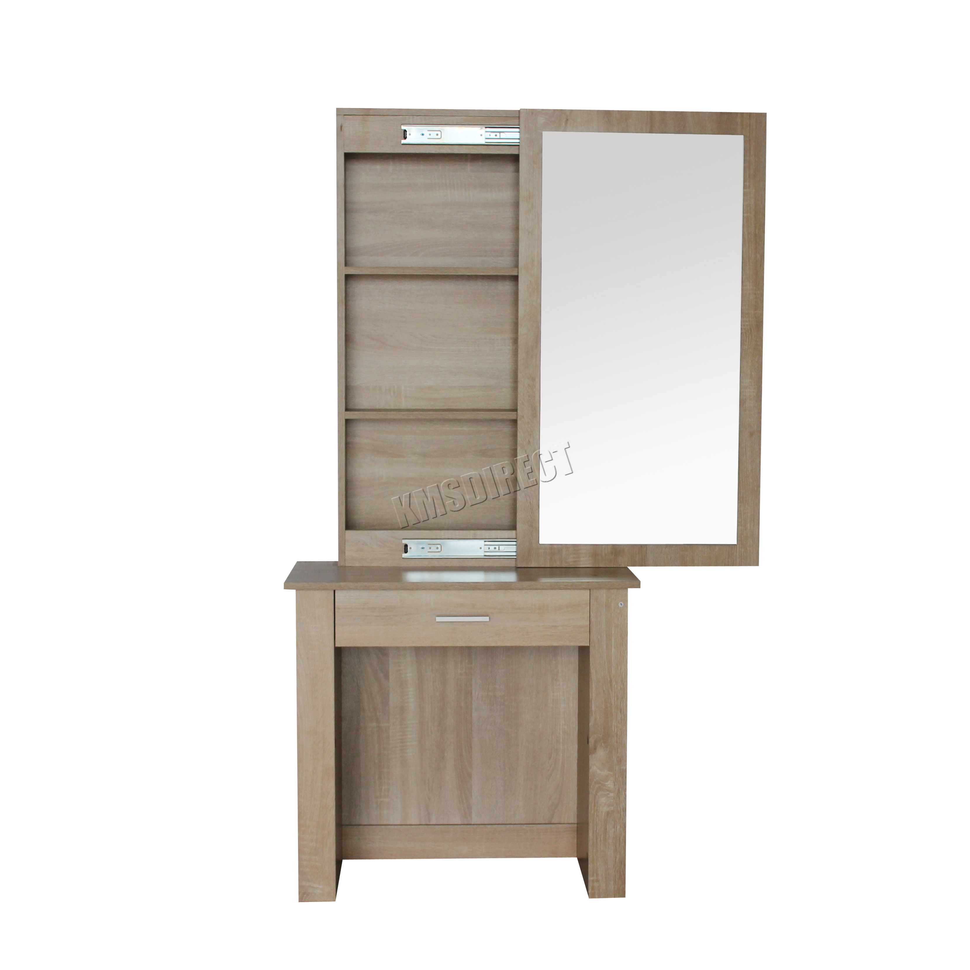 FoxHunter Wooden Makeup Jewelry Dressing Table With Sliding