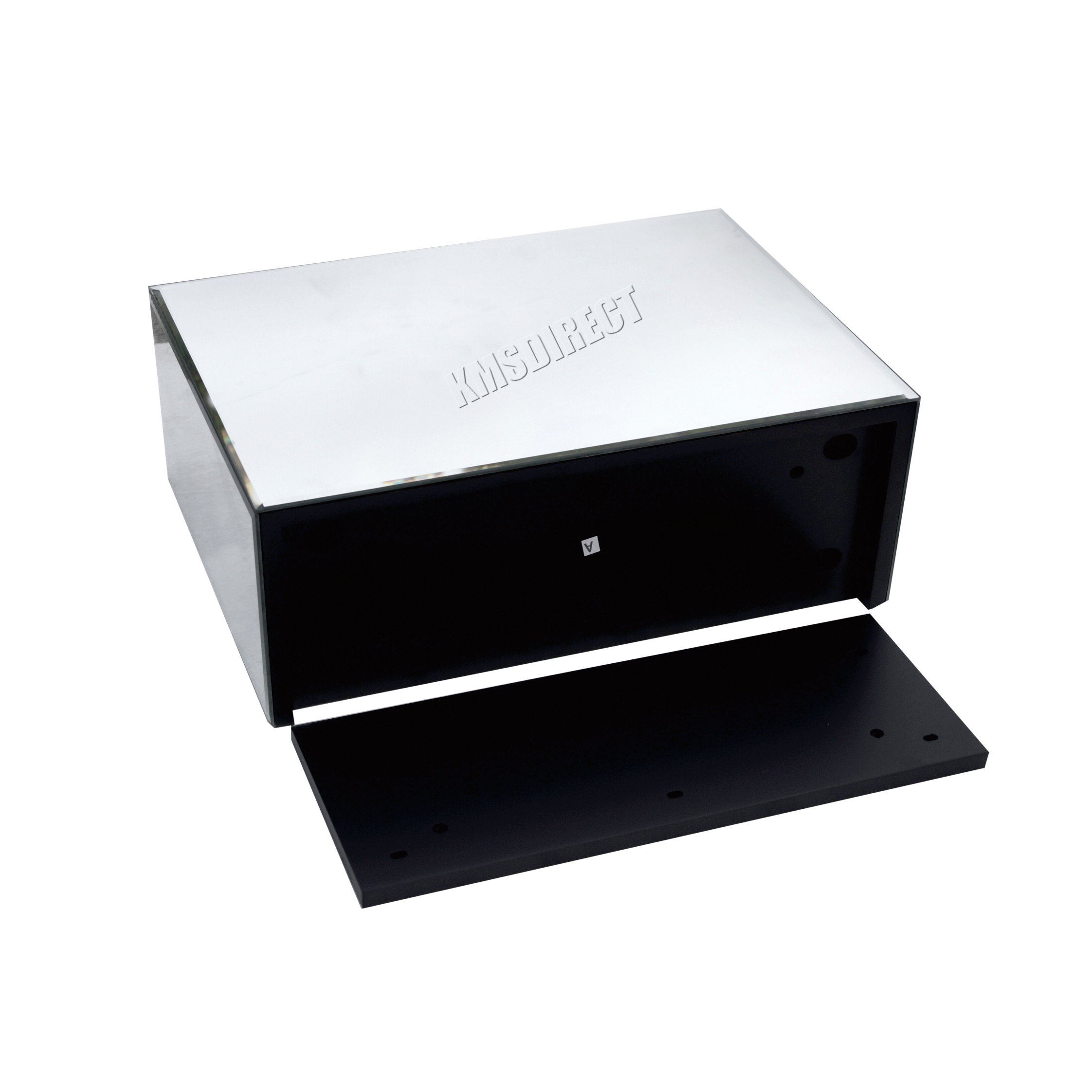 Westwood Mirrored Furniture Glass Floating Bedside Cabinet Table Console Shelf Ebay