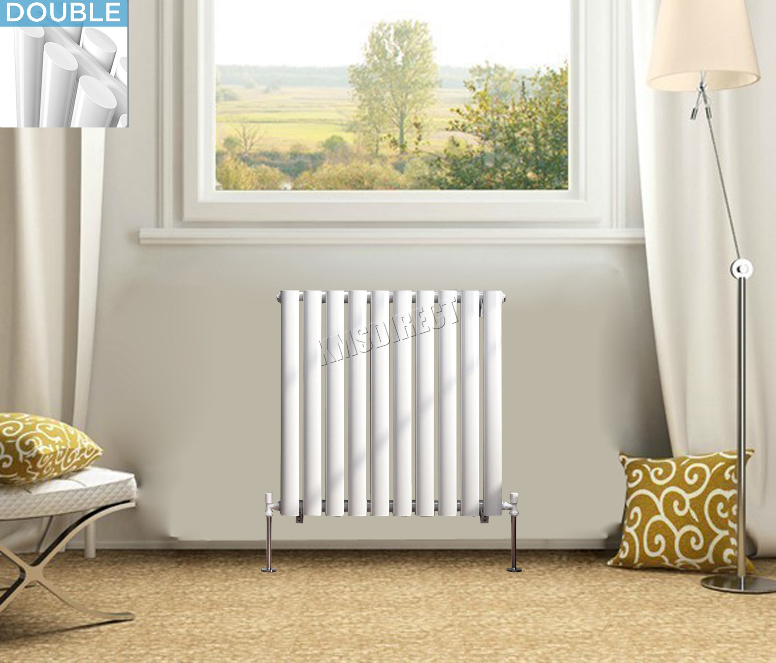 foxhunter horizontal ovale colonne radiateur salle de bains radiateur simple double designer ebay. Black Bedroom Furniture Sets. Home Design Ideas