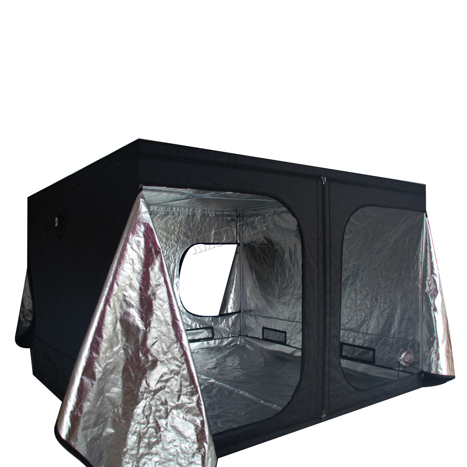 Indoor-Portable-Grow-Tent-Box-Silver-Mylar-Hydroponics-Bud-Green-Room-New-Design miniatuur 24