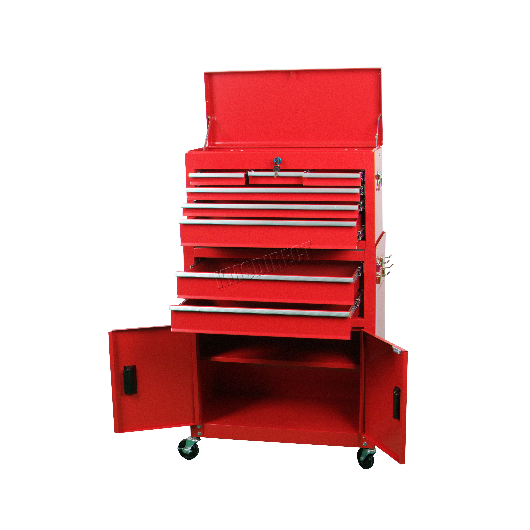 metal storage cart foxhunter metal tool box chest cabinet storage organizer 23289