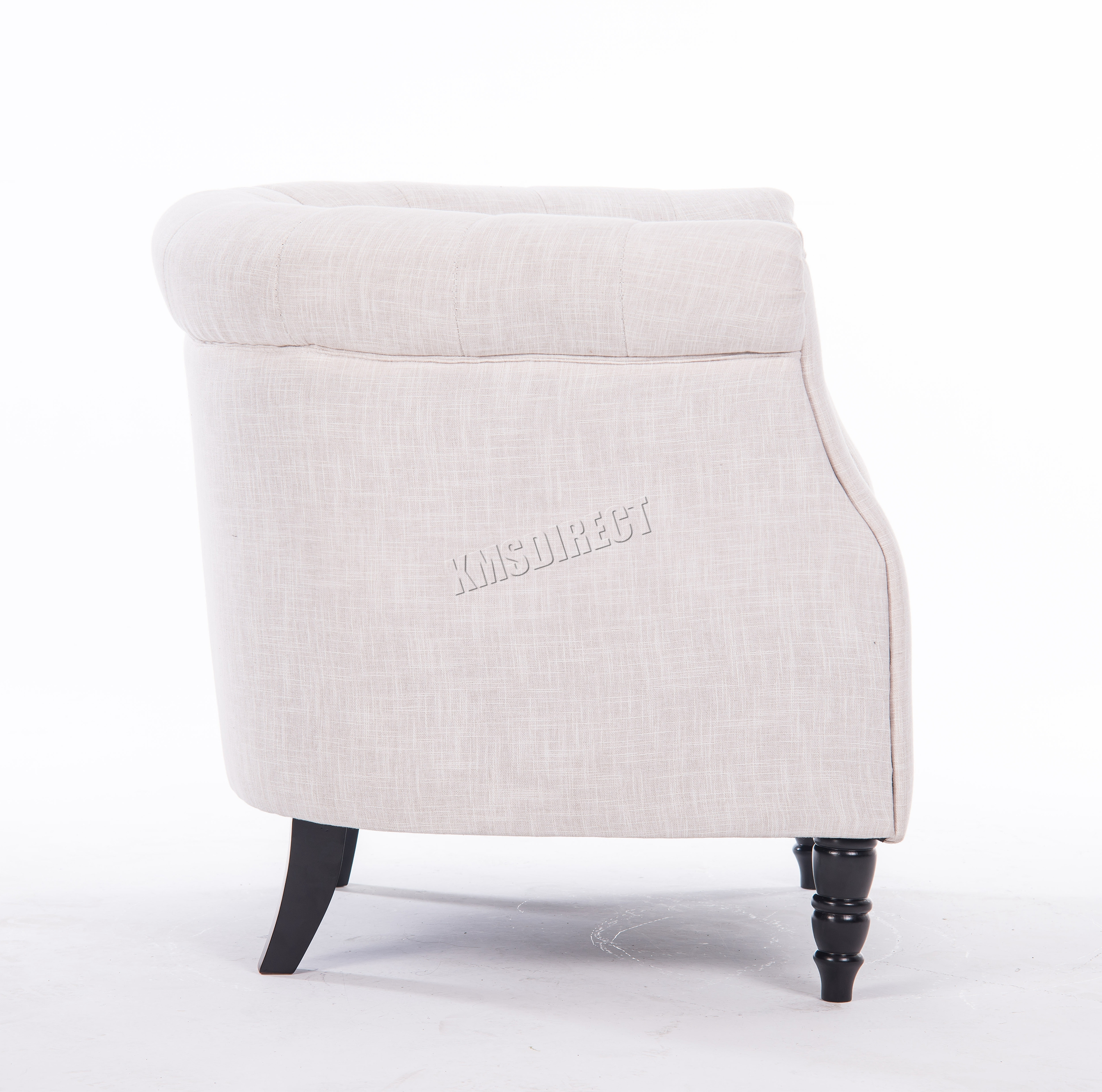 WestWood Vintage Linen Fabric Tub Chair Armchair Dining Living ...