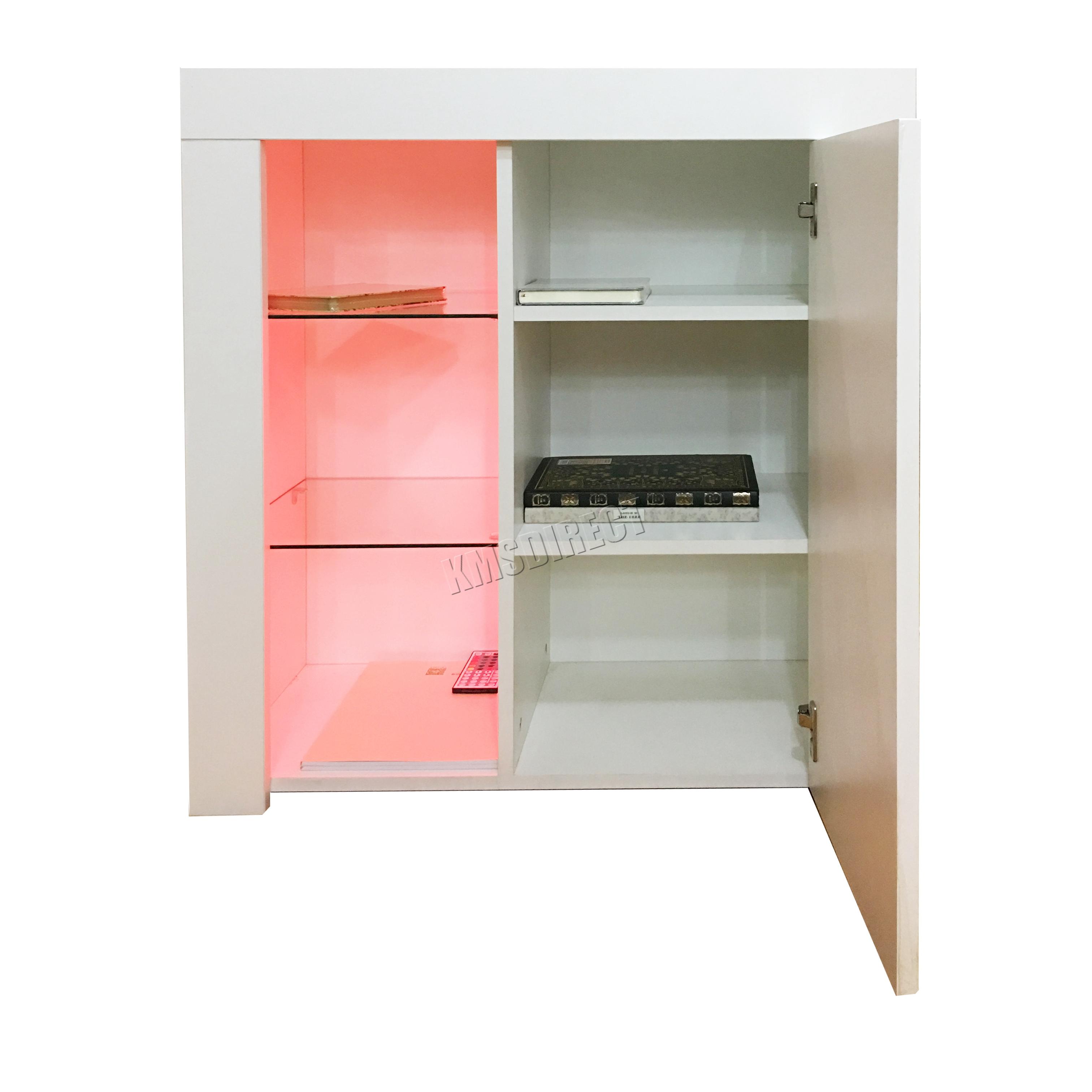 foxhunter high gloss matt cabinet sideboard cupboard pb remote control led phc01 ebay. Black Bedroom Furniture Sets. Home Design Ideas