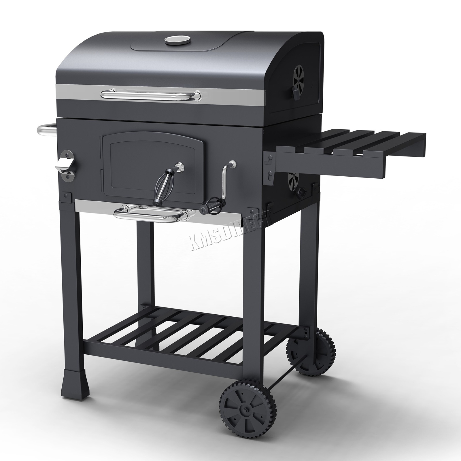 Details About Foxhunter Charcoal Bbq Grill Barbecue Smoker Grate Garden Portable Outdoor Grey