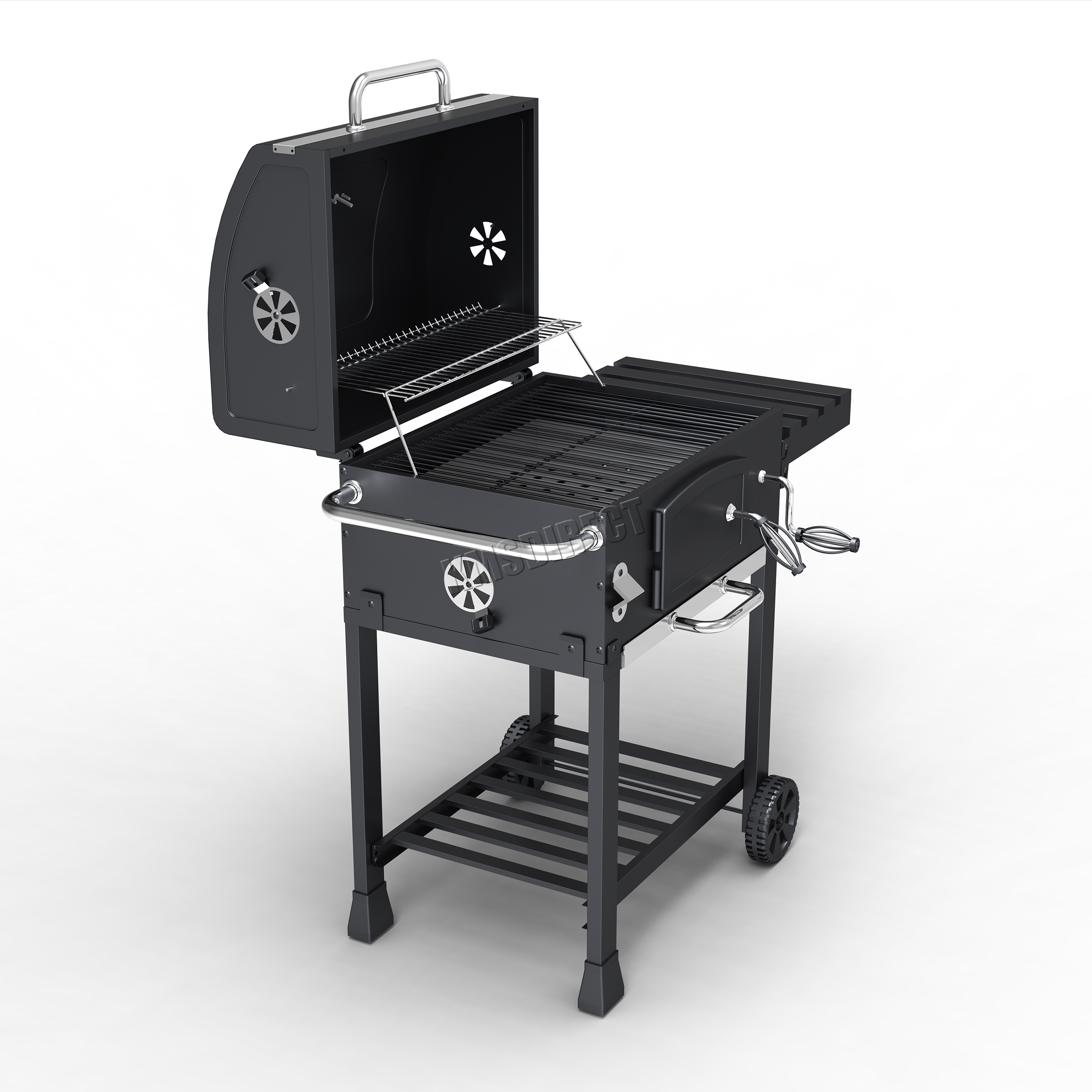 FoxHunter Charcoal BBQ Grill Barbecue Smoker Grate Garden ...