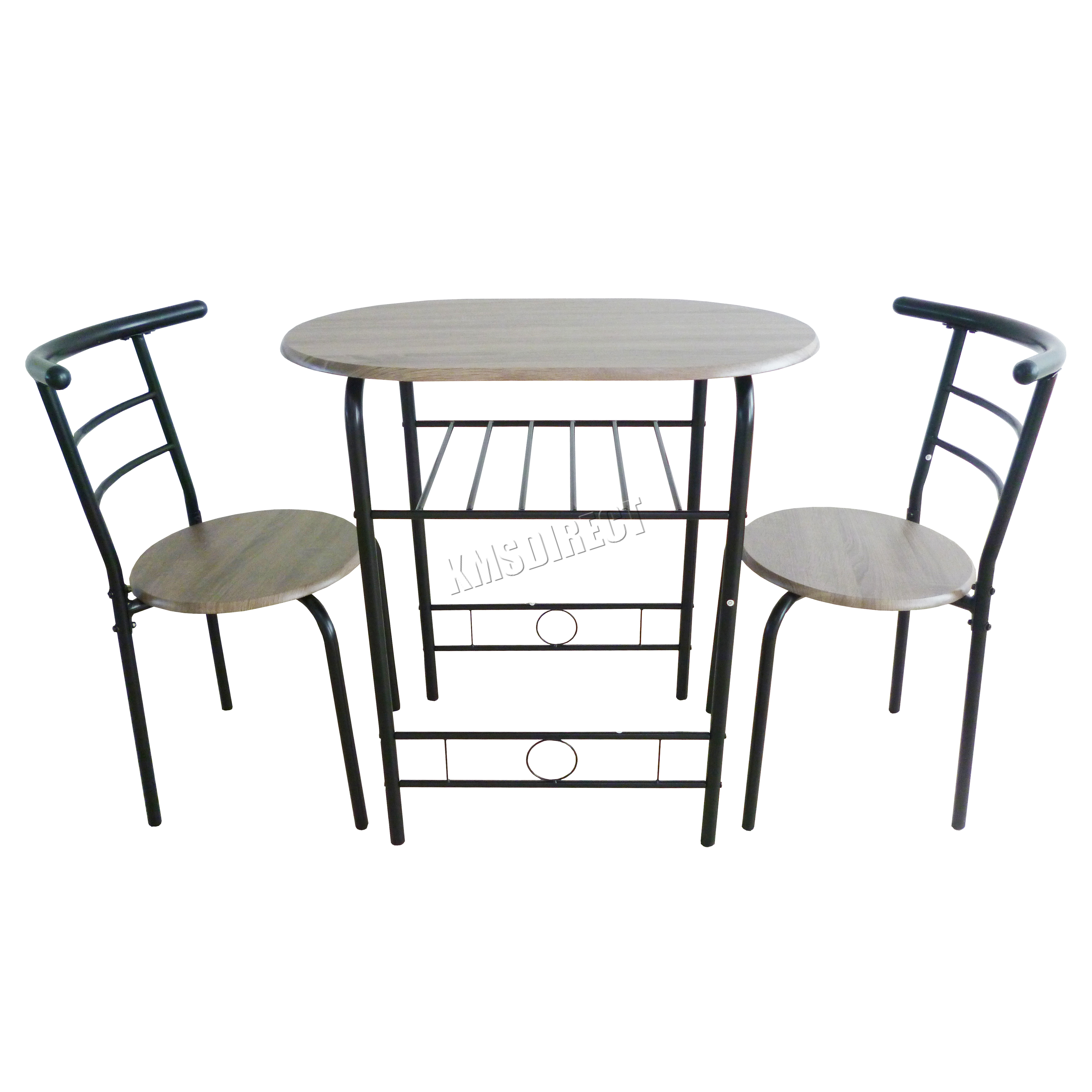 Westwood Compact Dining Table Breakfast Bar 2 Chair