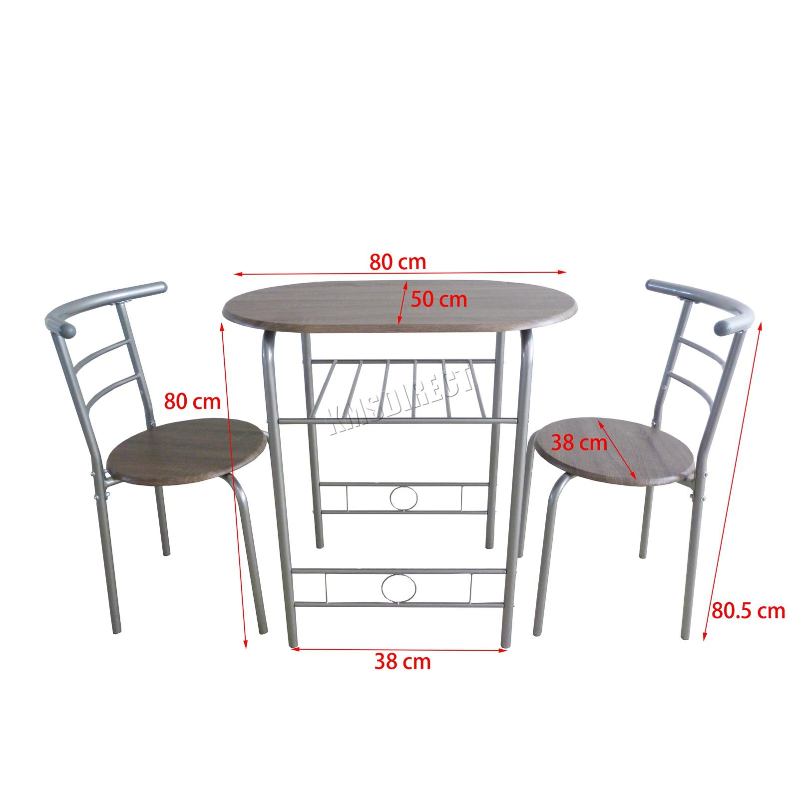 Details Sur Westwood Compact Table De Salle A Manger Dejeuner Bar 2 Kit Chaise Metal Mdf Cuisine Ds06 Afficher Le Titre D Origine