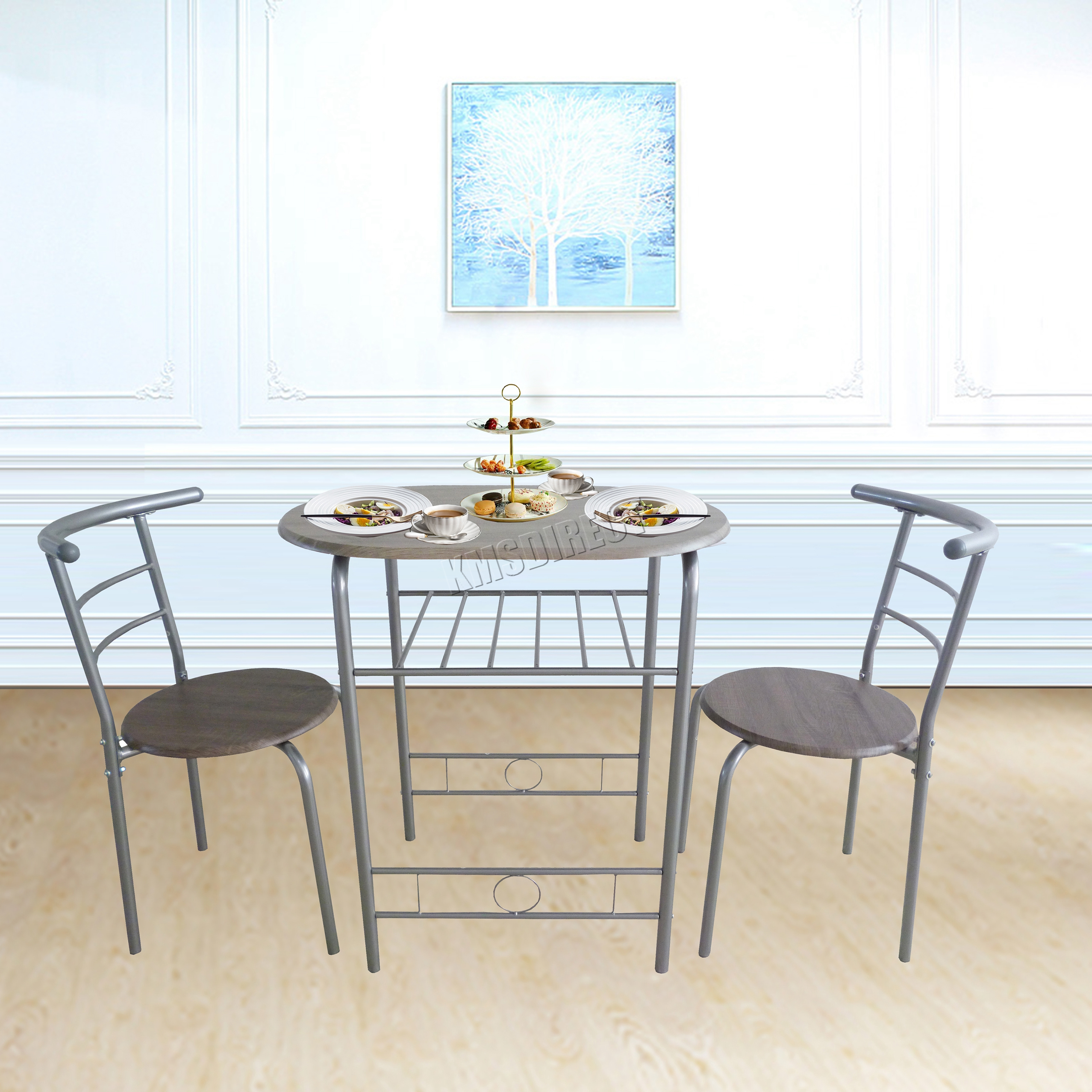 FoxHunter Compact Dining Table Breakfast Bar 2 Chair  sc 1 st  al-rashedeen.info & 96+ Dining Room Chairs Metal - Dining Room Fabric For Chairs Leather ...