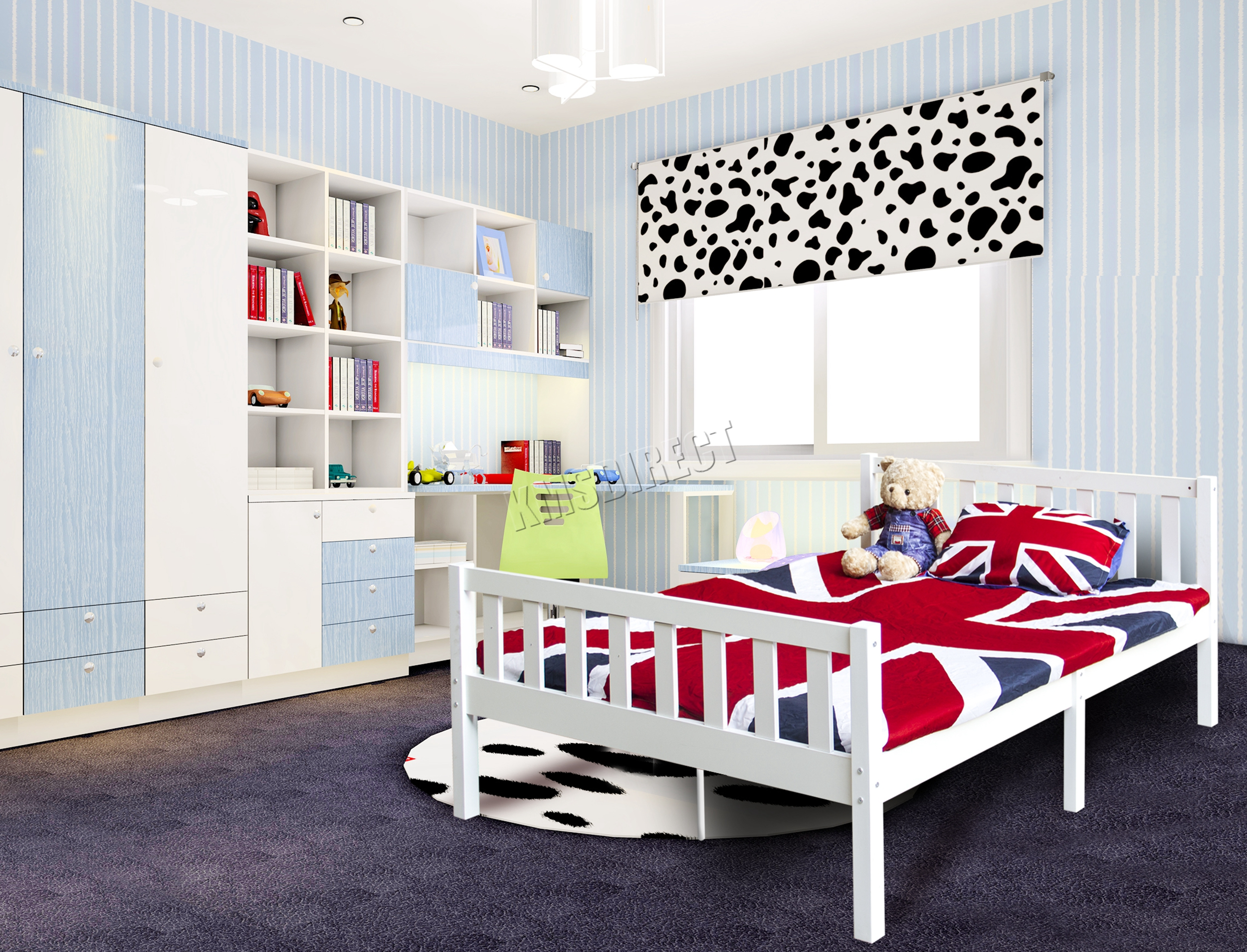 Westwood 4ft6 double wooden bed frame pine bedroom home - White and pine bedroom furniture ...